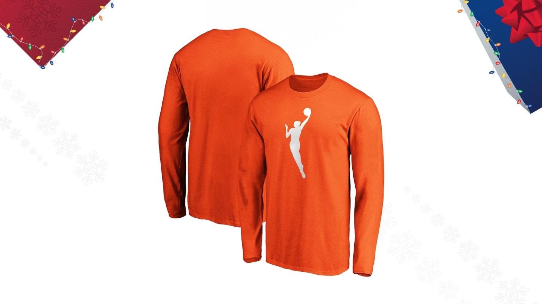 WNBA Orange Adult Long Sleeve T-Shirt