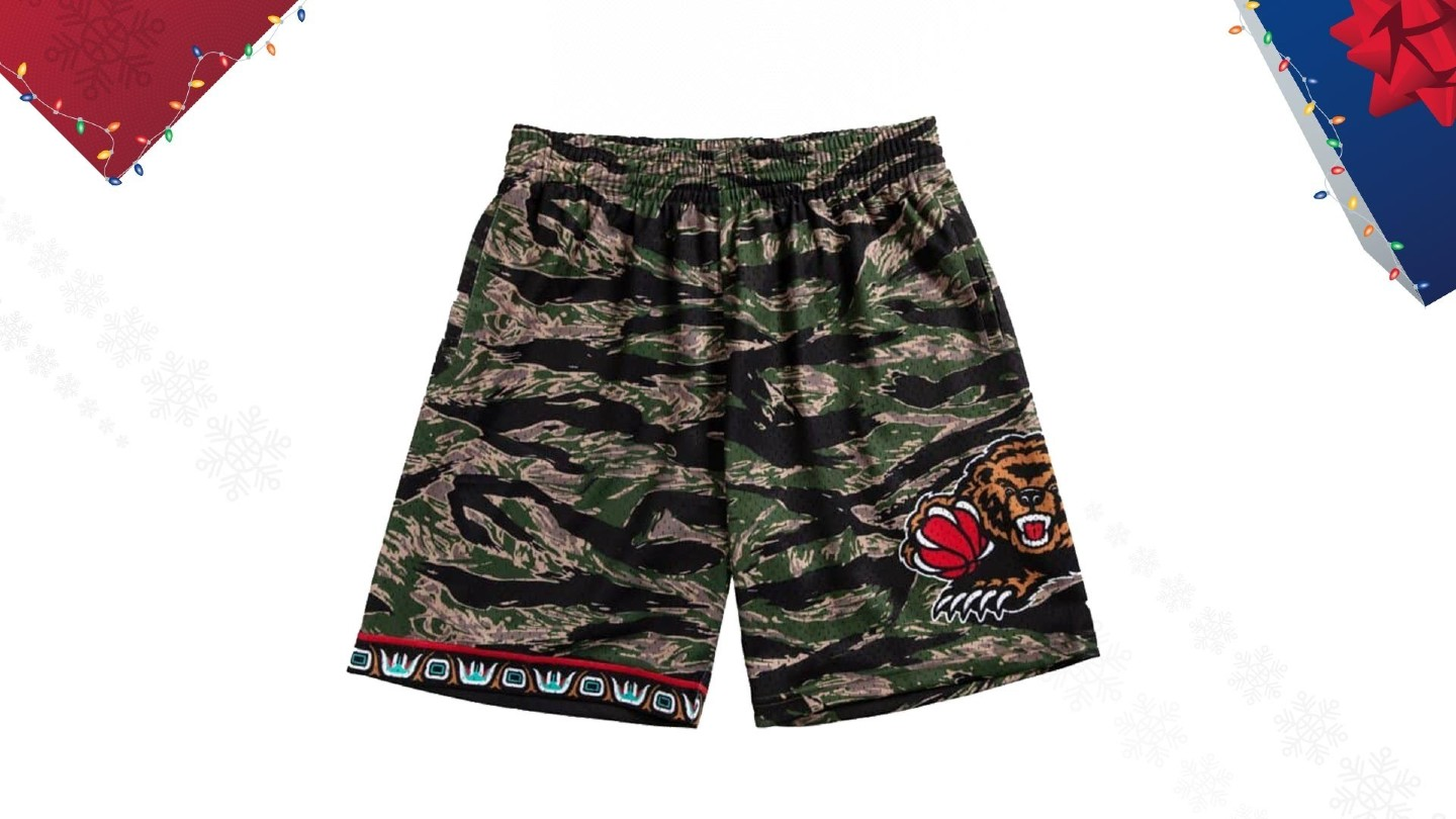 Mitchell & Ness Tiger Camo Swingman Grizzlies Shorts