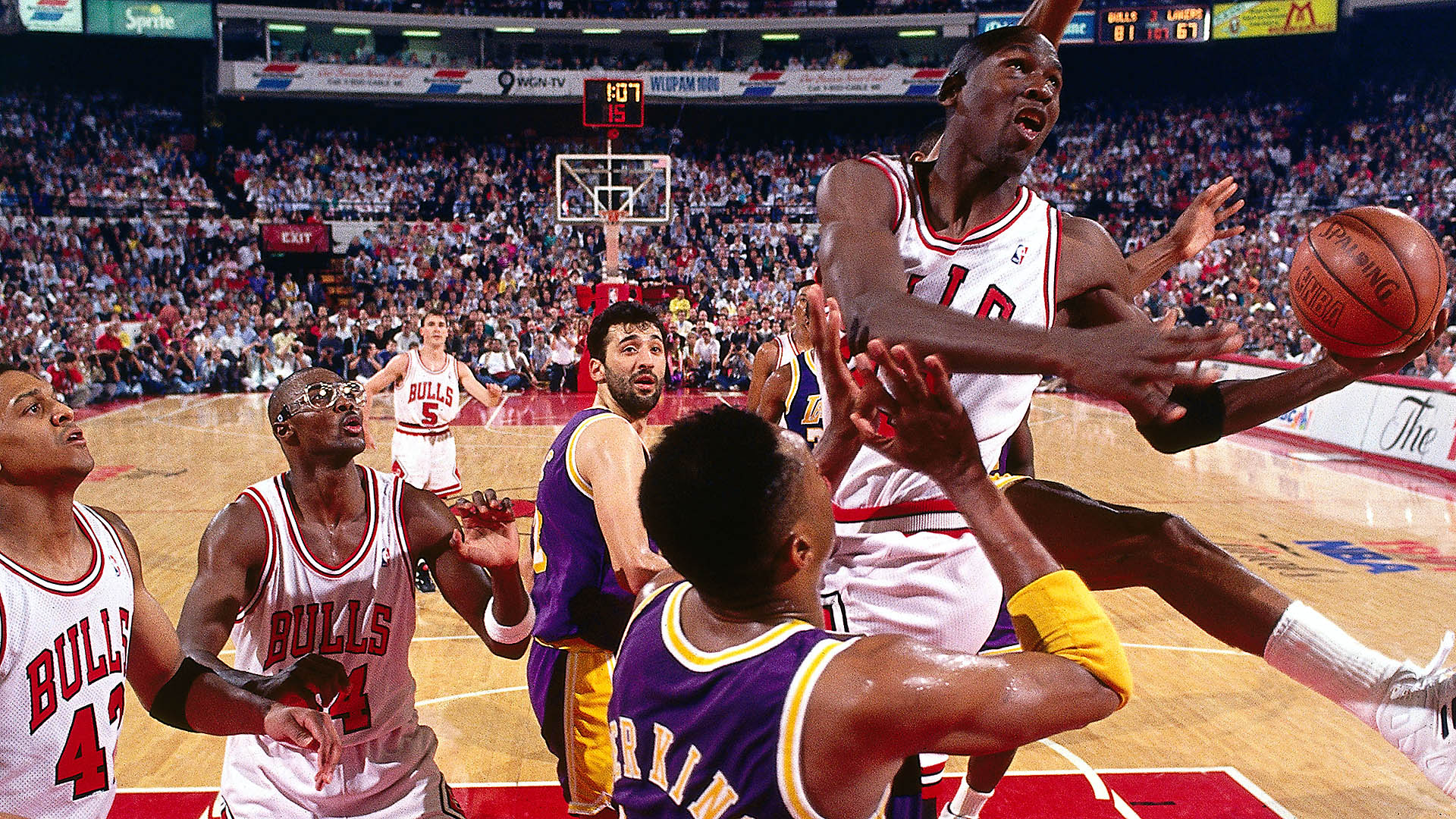 Top Moments: Michael Jordan leaves mark in Finals with mid-air acrobatics