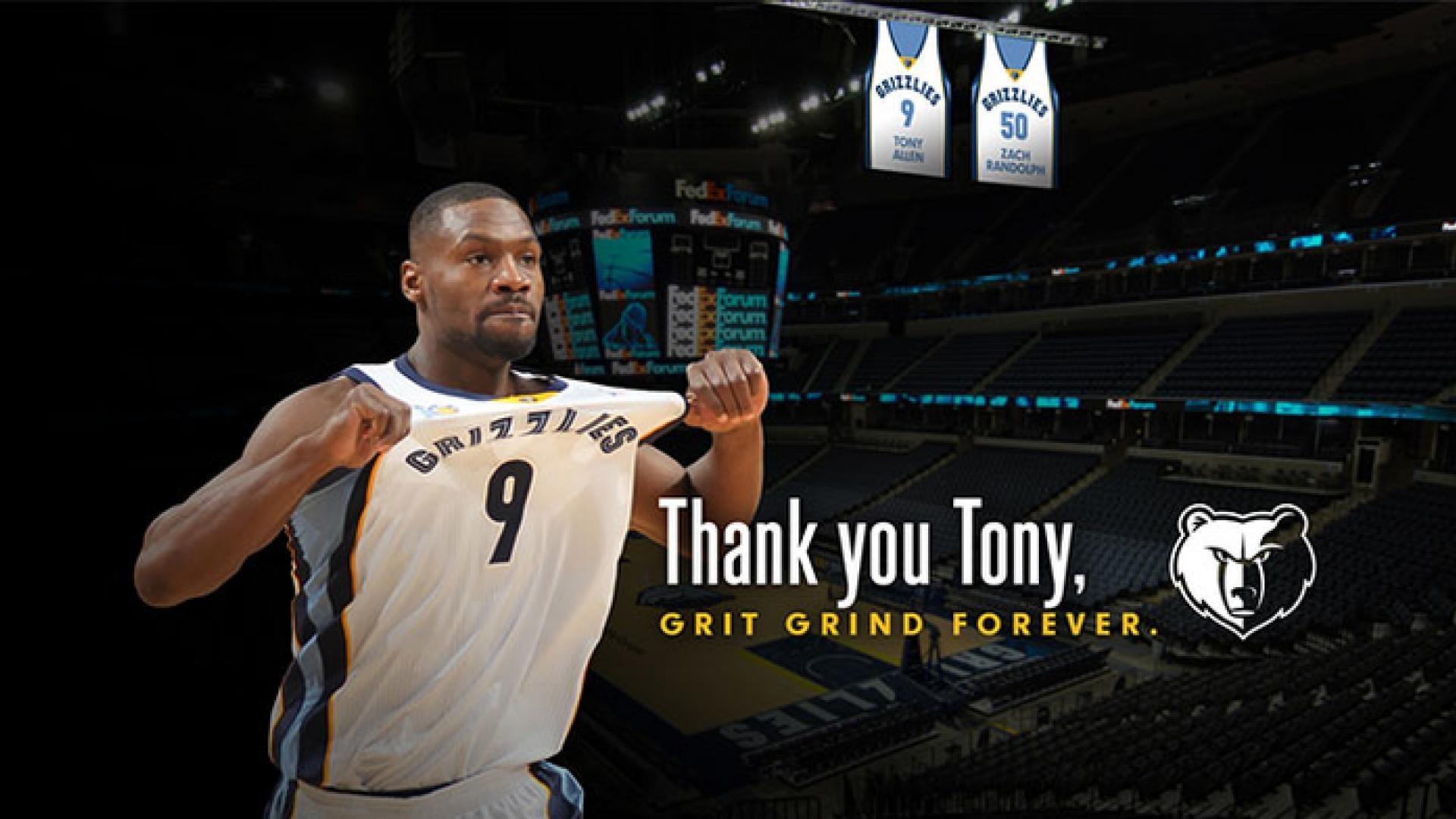 Memphis Grizzlies to retire Tony Allen's No. 9 jersey   NBA.com