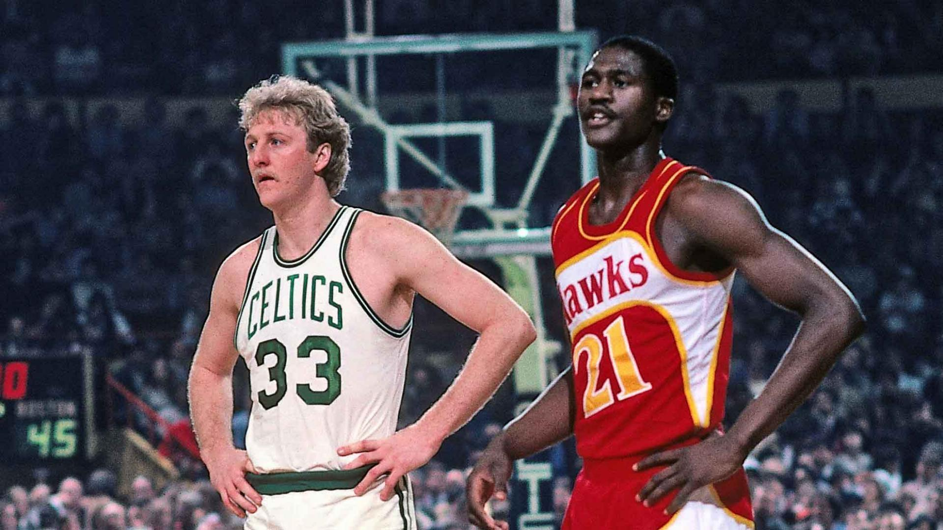 Top Moments: Larry Bird and Dominique Wilkins provide shootout for the ages