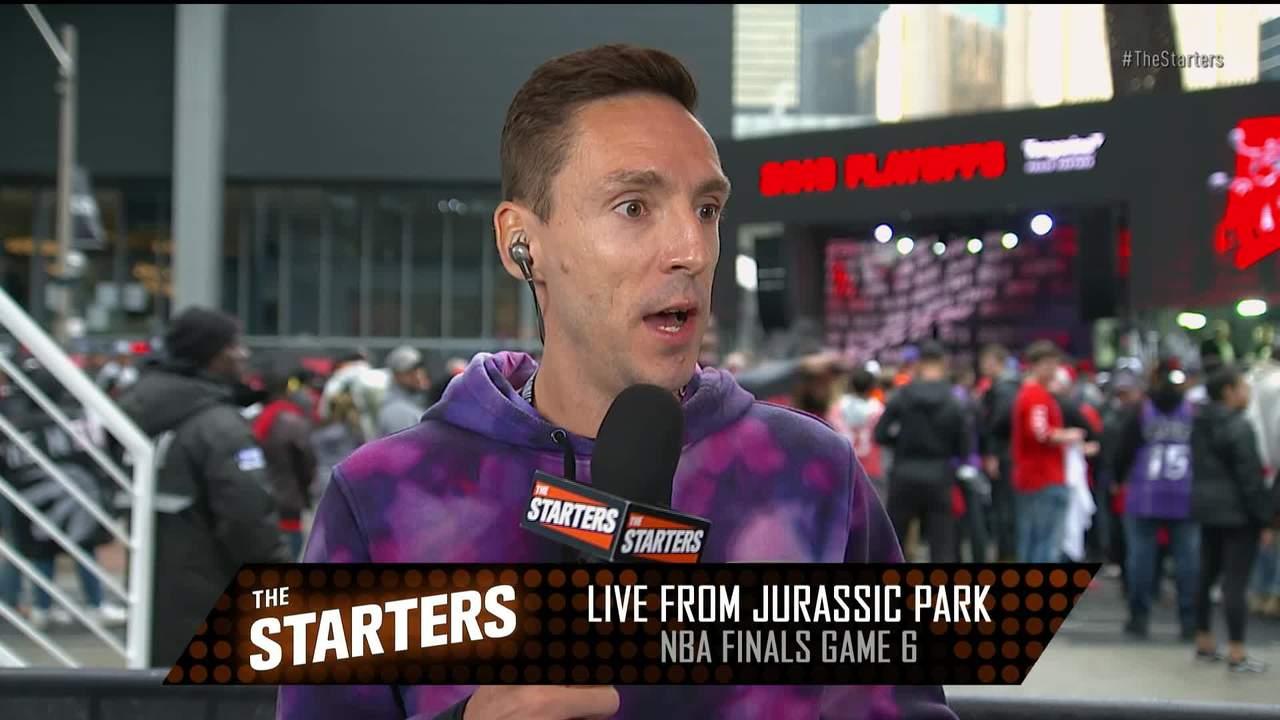 J.E. Skeets in Jurassic Park Before Game 6