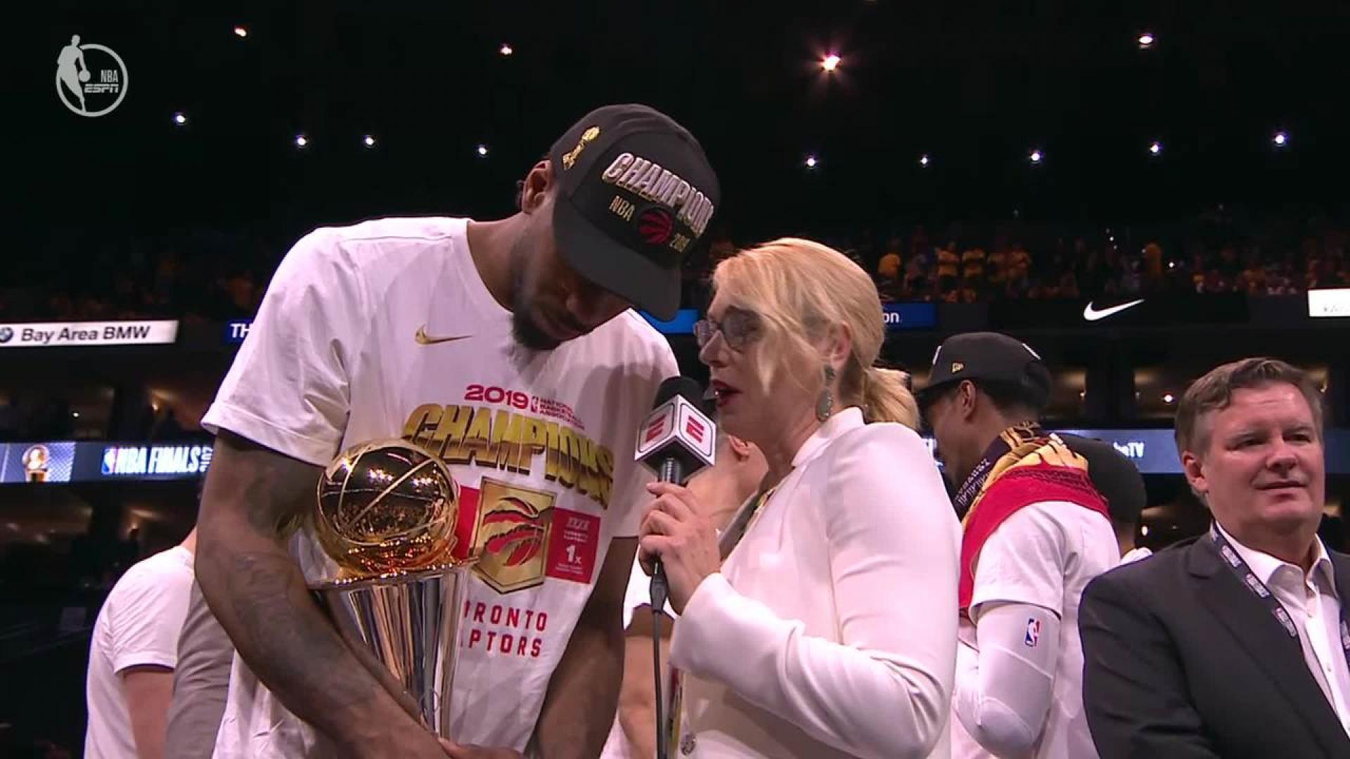 Kawhi Leonard joins elite company in winning Finals MVP