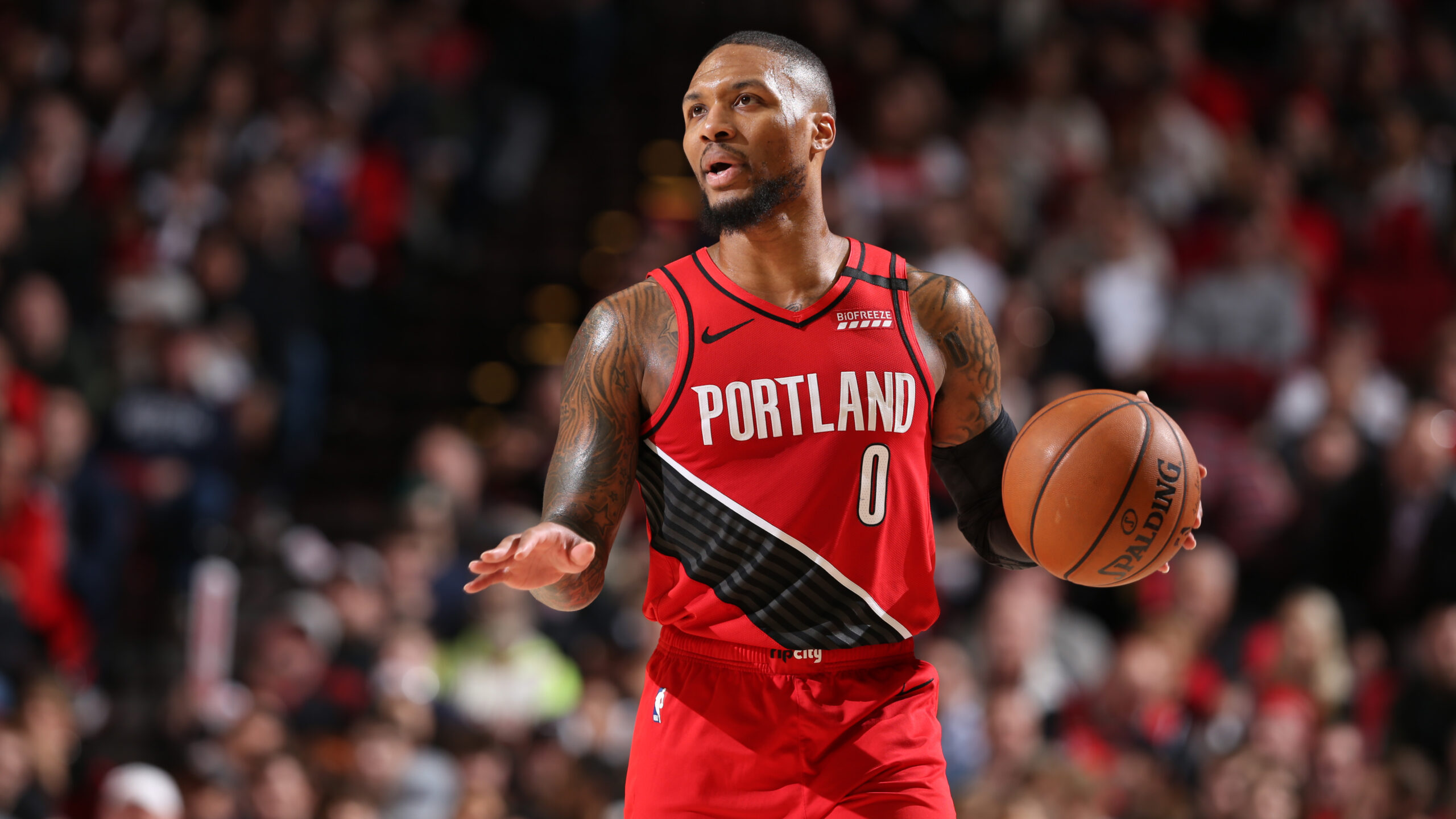 Blazers' Damian Lillard records first career triple-double