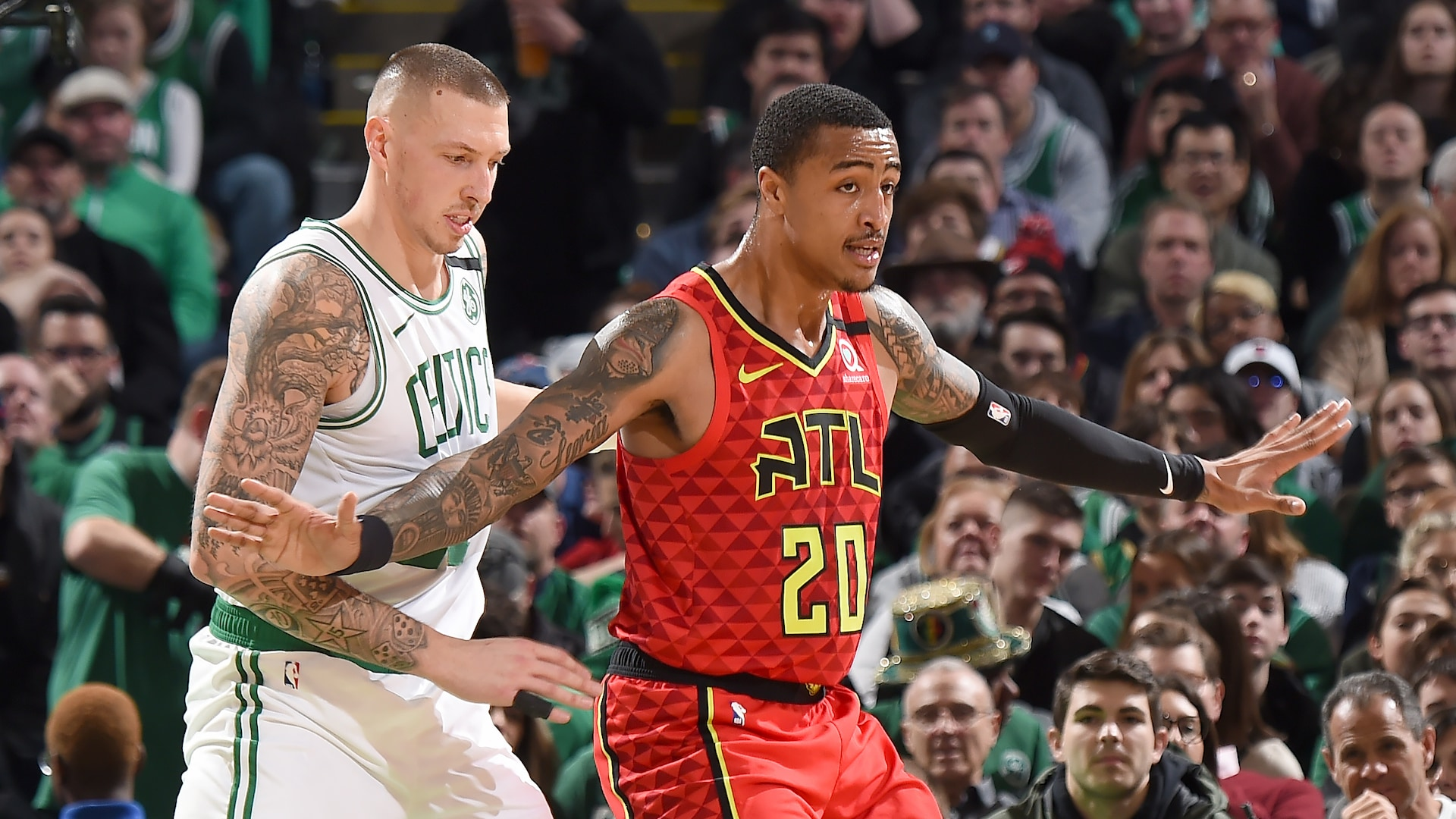 John Collins exits Hawks-Celtics with back contusion