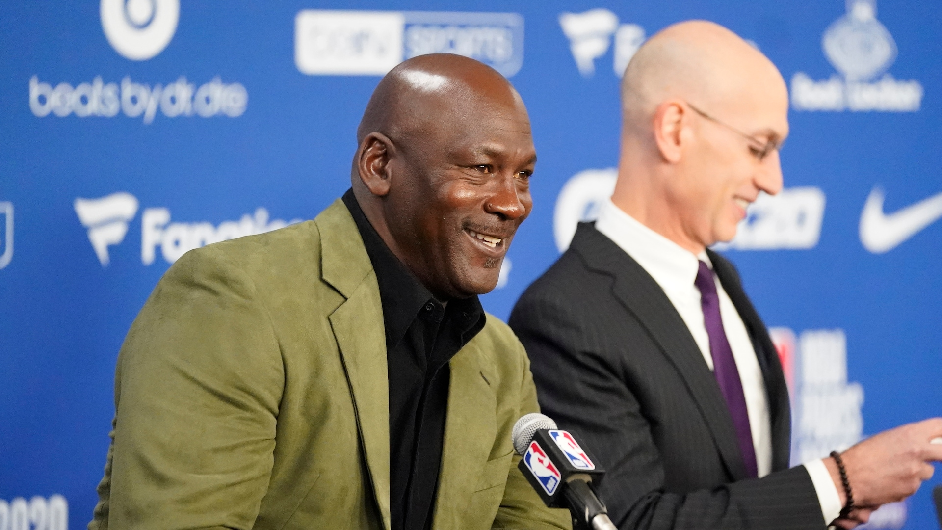 In Paris, Michael Jordan takes questions on many NBA topics