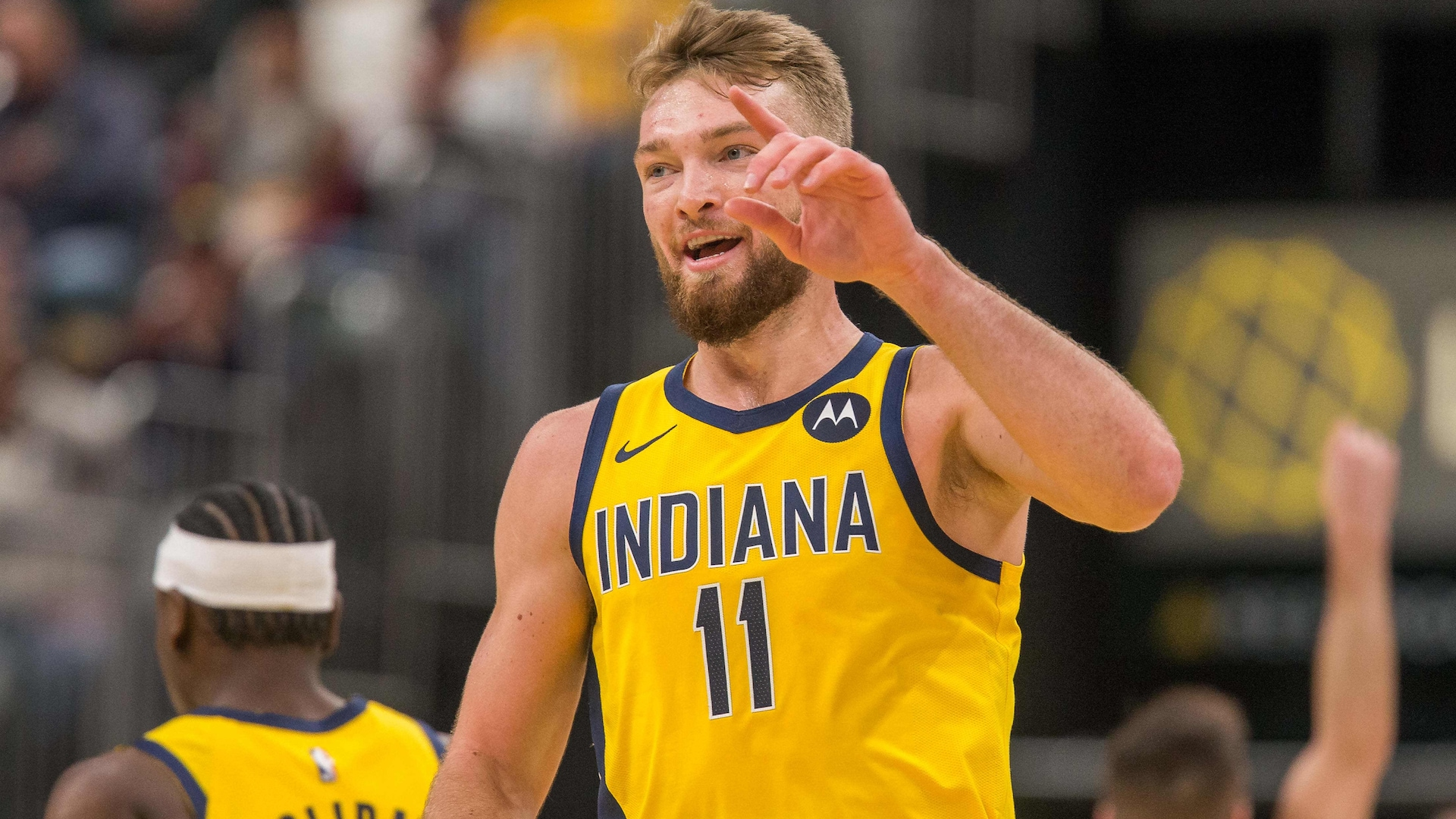 Pacers' Sabonis misses game with sore knee