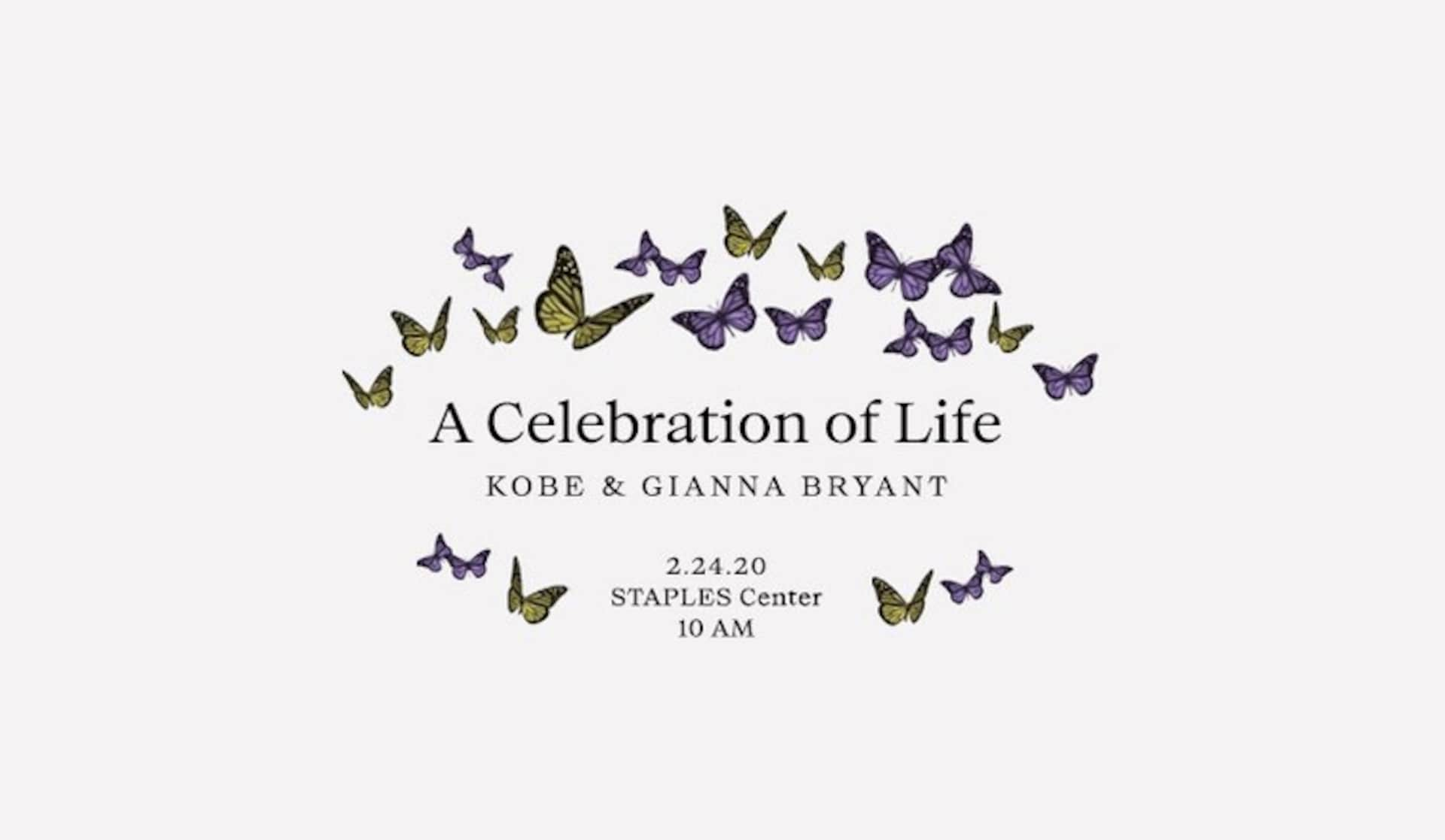 Ticket Information for a Celebration of Life for Kobe and Gianna Bryant