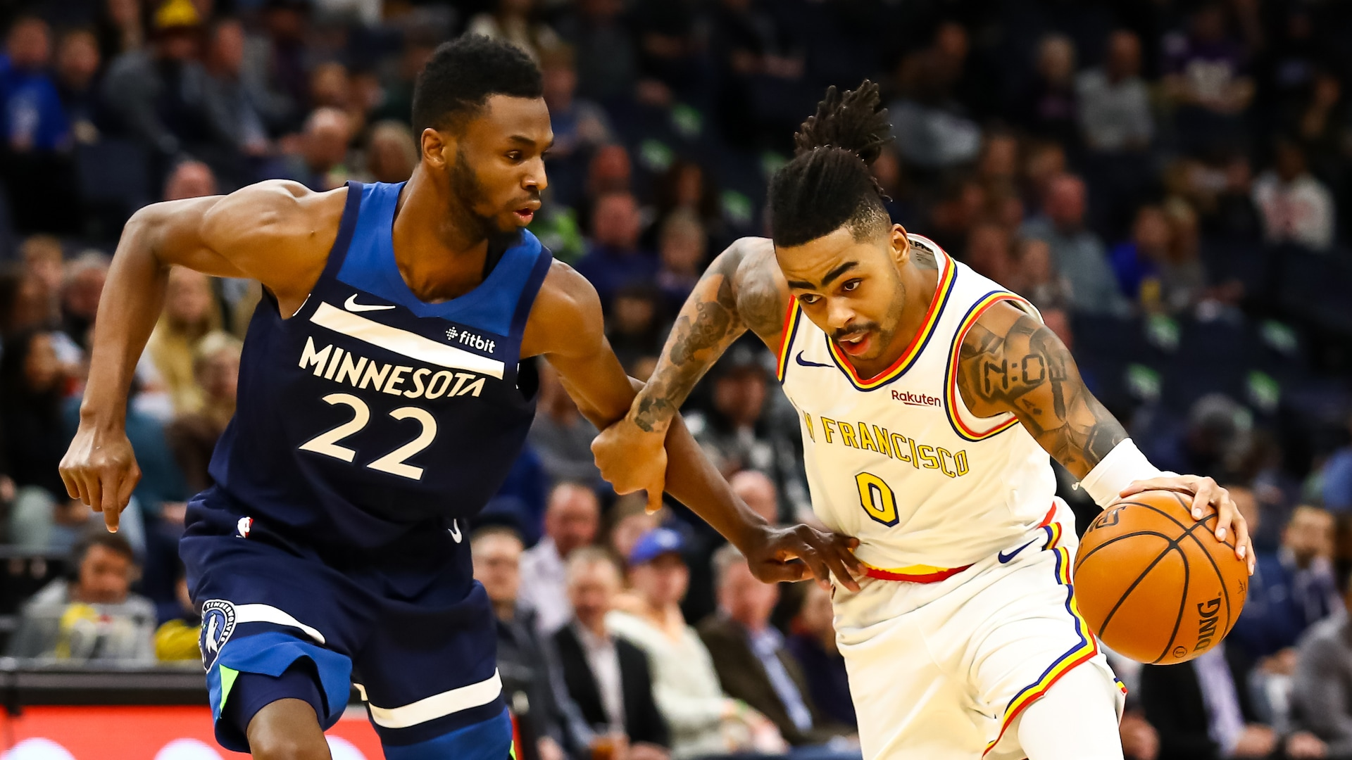Warriors trade D'Angelo Russell to Timberwolves for Andrew Wiggins, picks