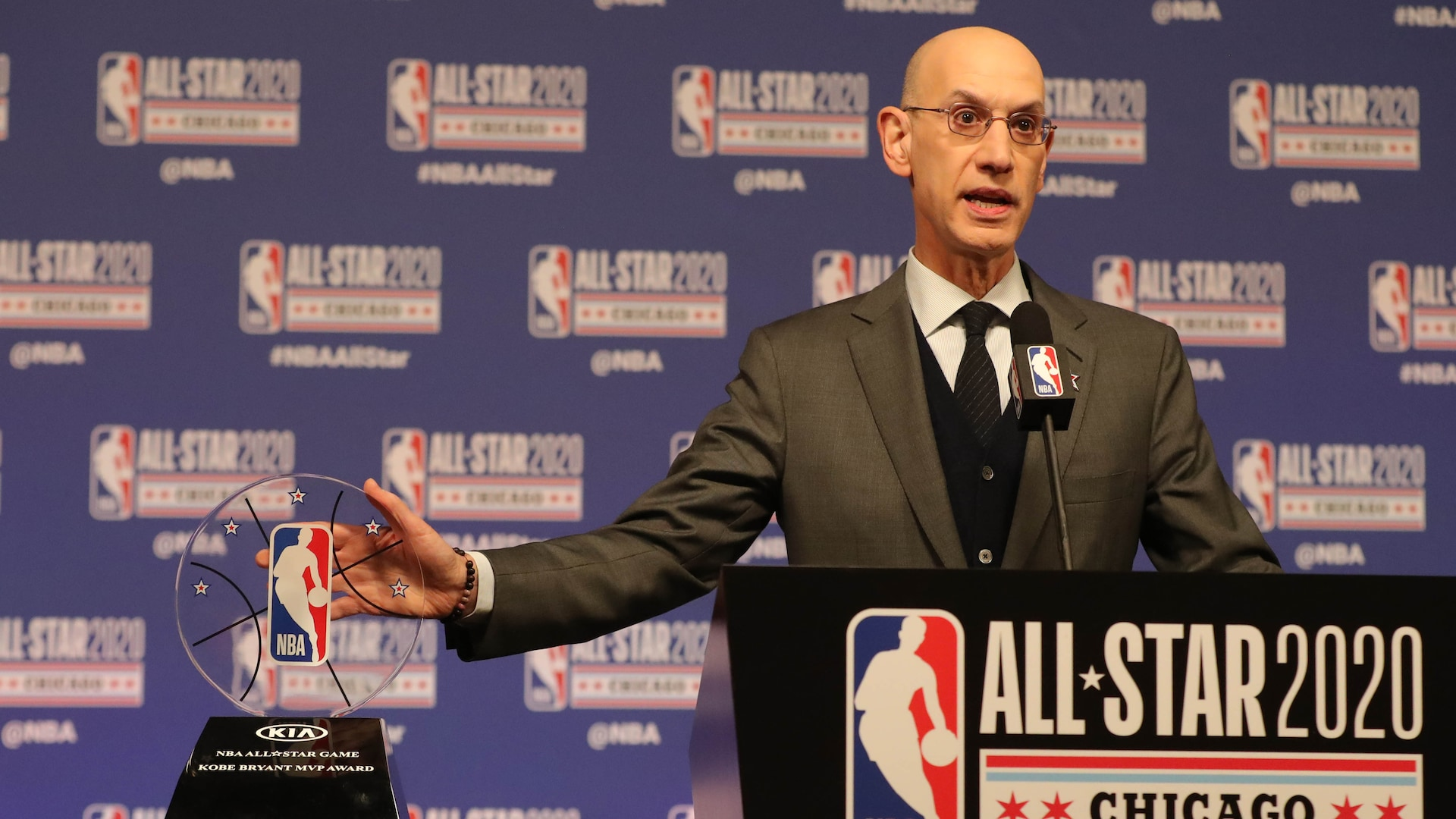 Adam Silver honors Kobe Bryant, 'force of nature' David Stern at All-Star Weekend