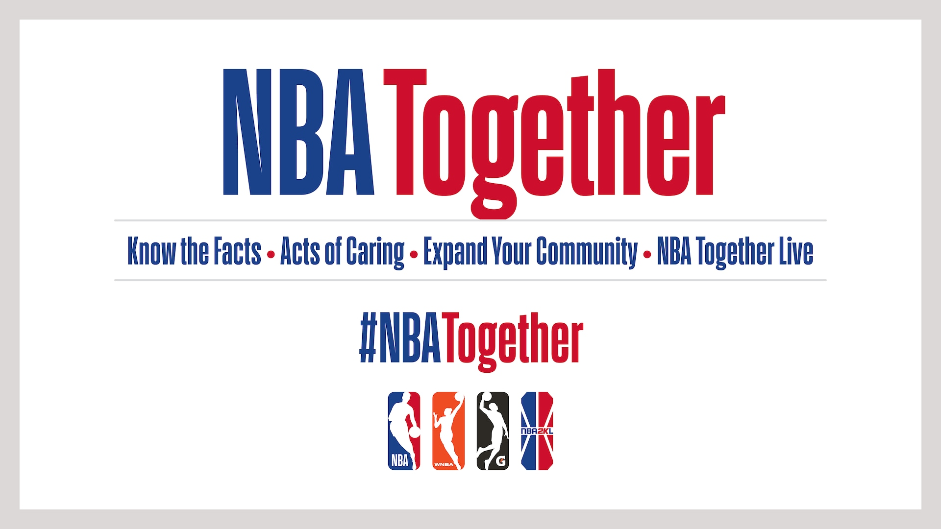 NBA launches global 'NBA Together' campaign in response to Coronavirus pandemic