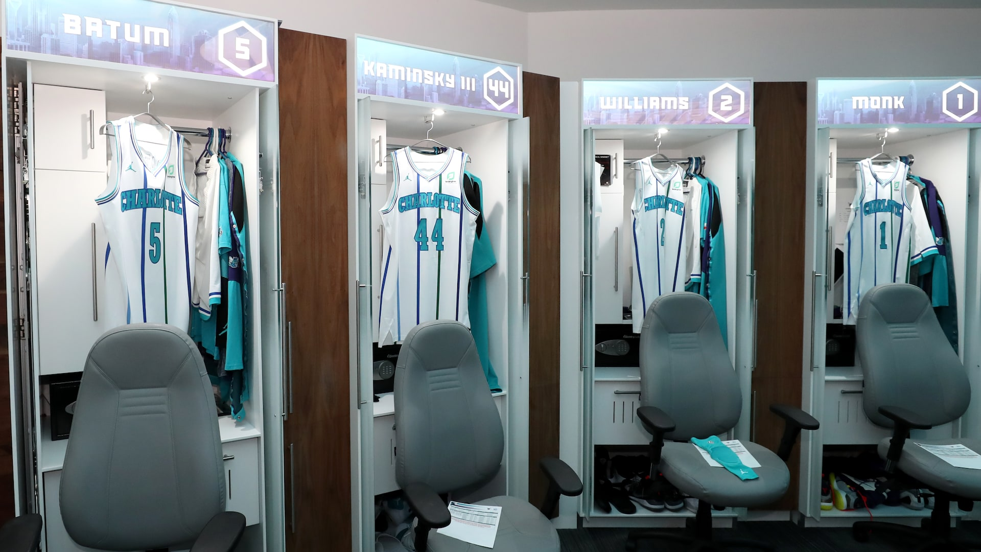 Professional sports leagues temporarily limit locker room access to players, essential staff