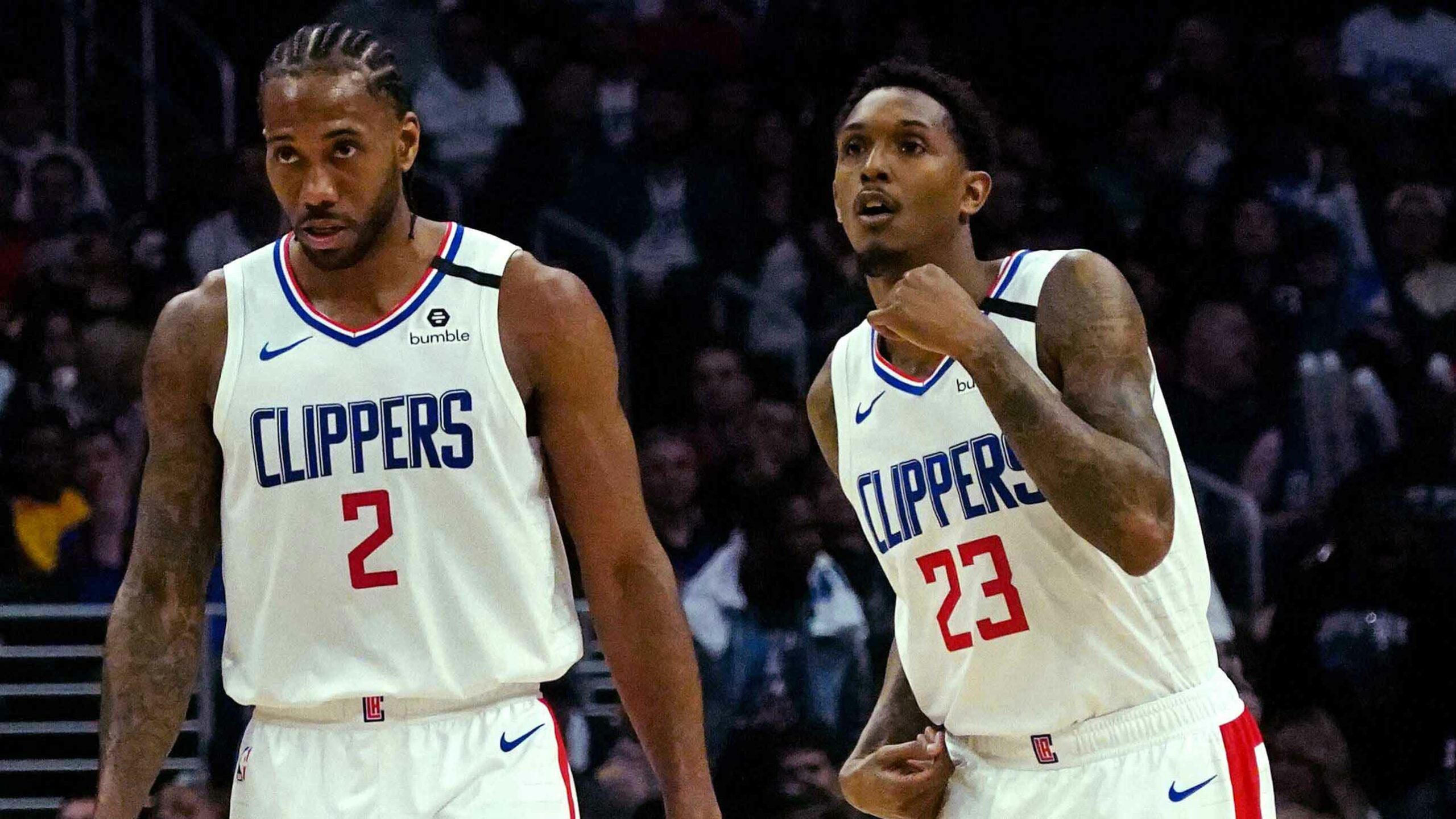 Clippers working out together -- via video -- during shutdown