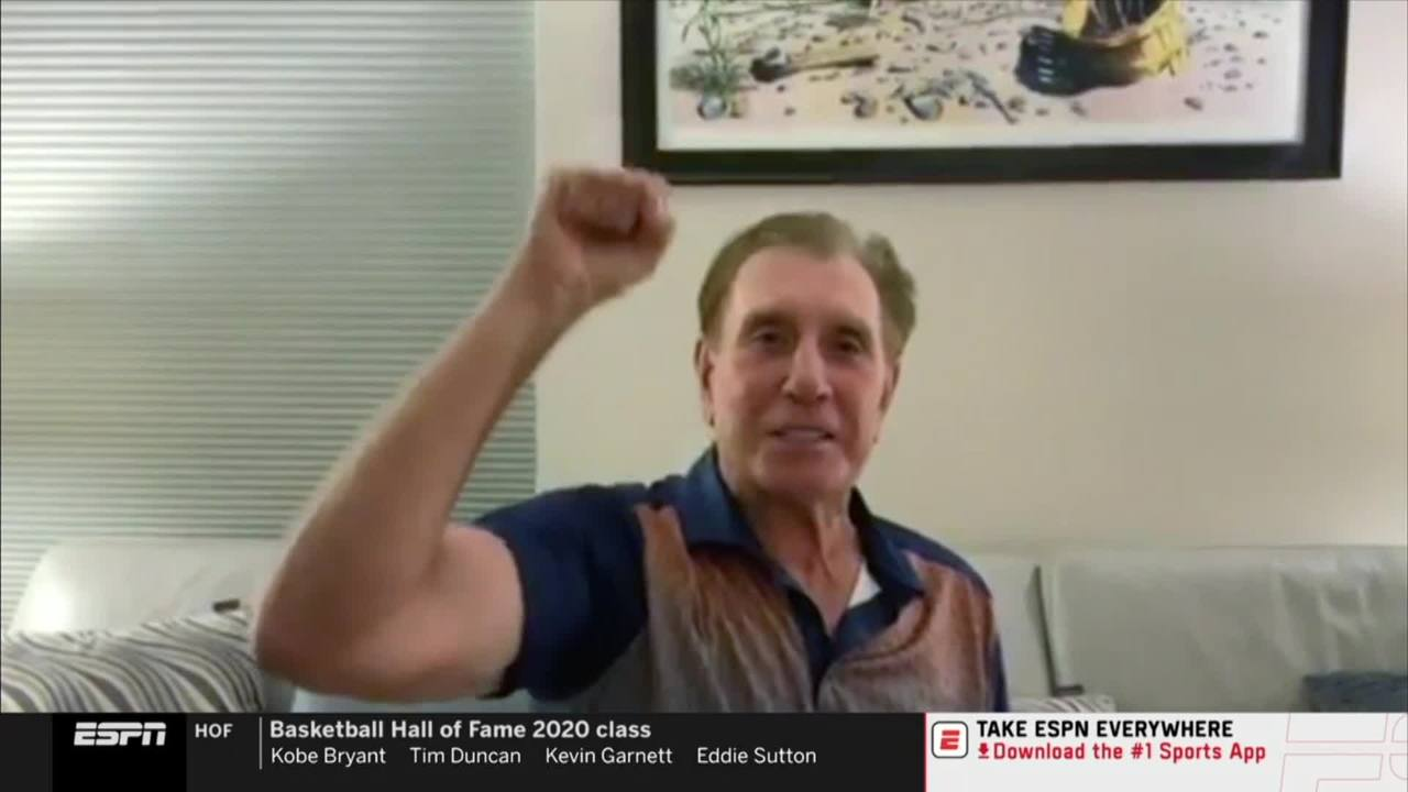 Rudy Tomjanovich reacts to joining the Basketball Hall of Fame