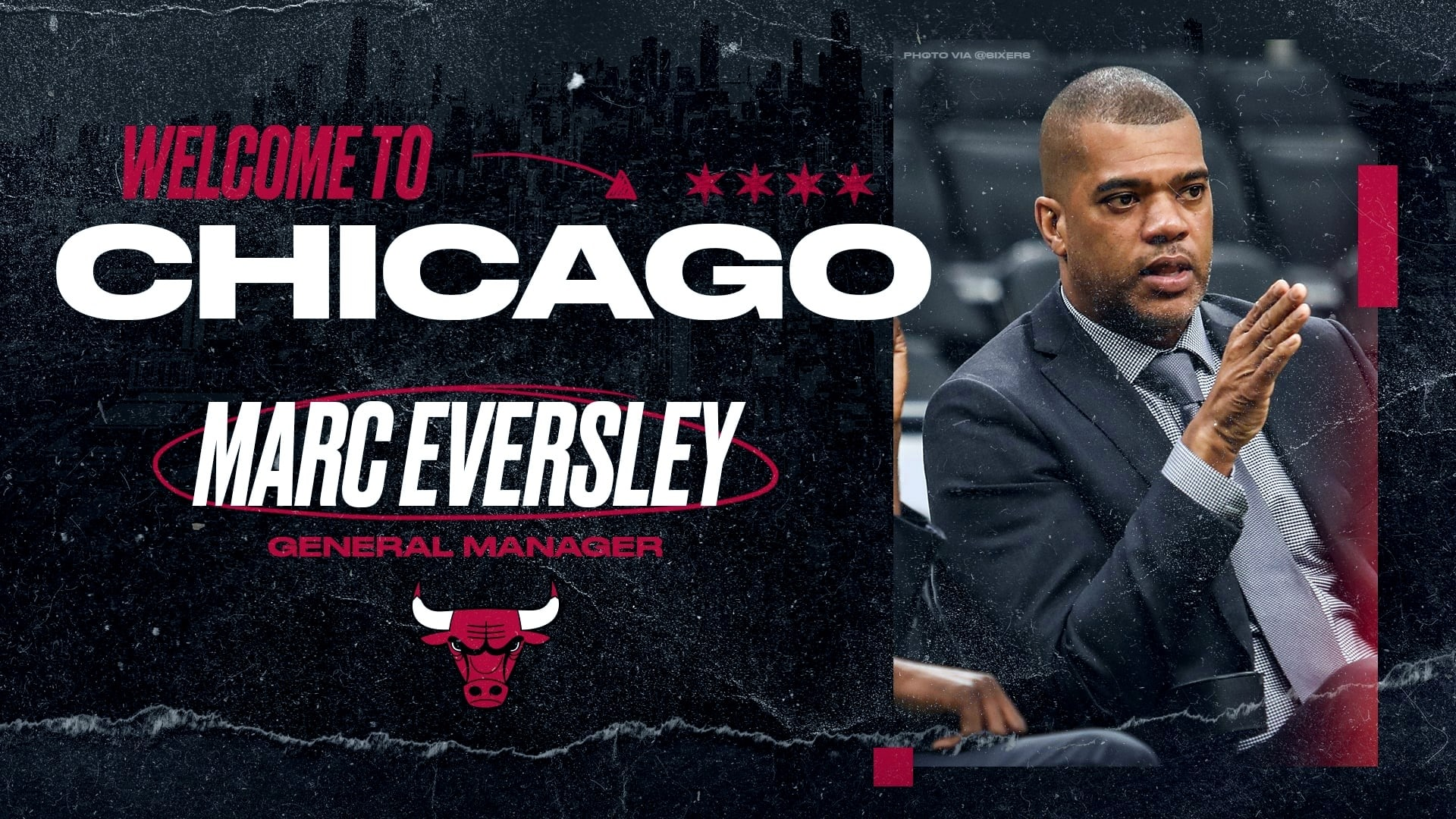 Chicago Bulls hire Marc Eversley to be GM