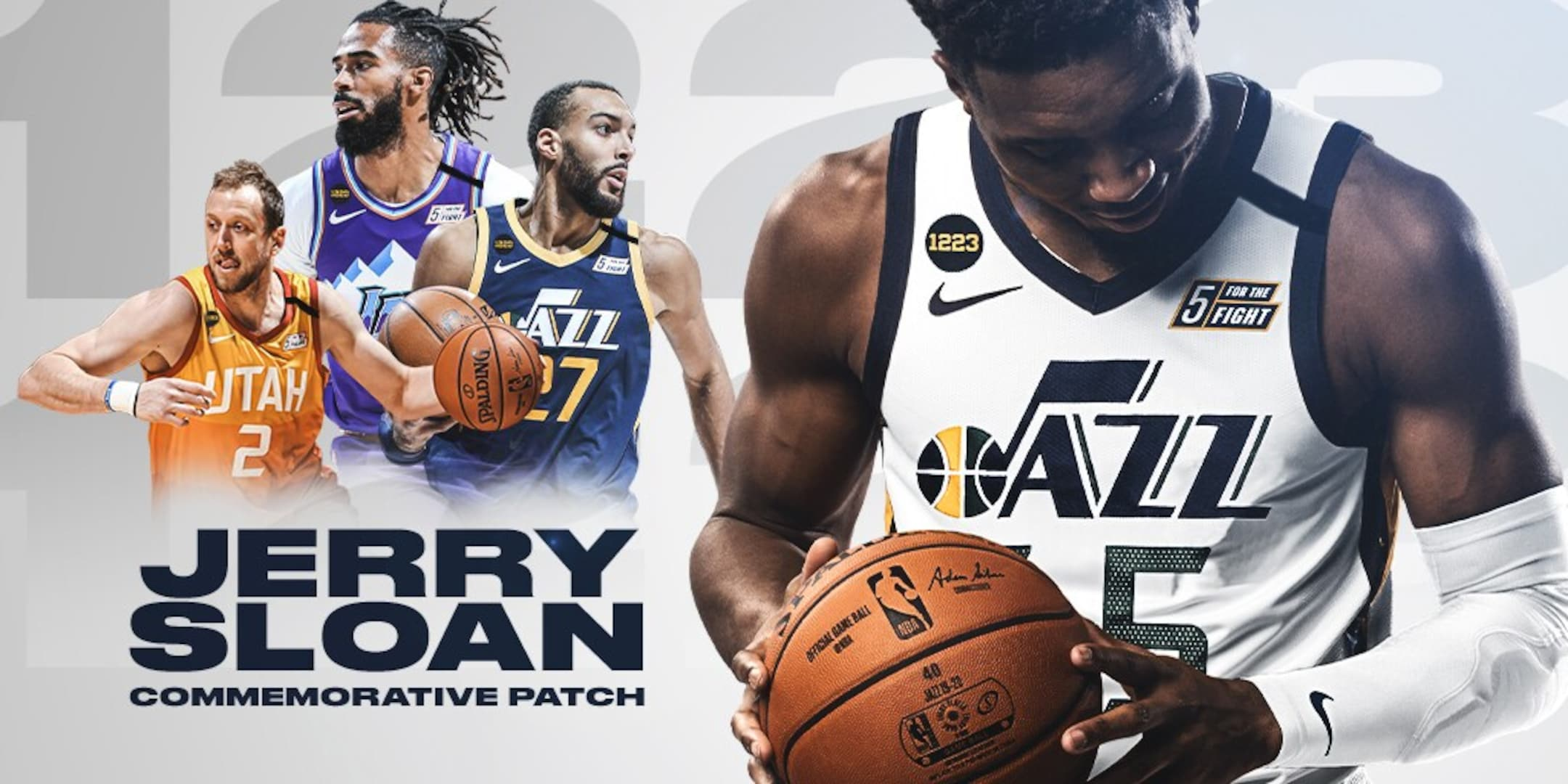 Jazz honor Jerry Sloan with tribute patch on jerseys and warm-ups