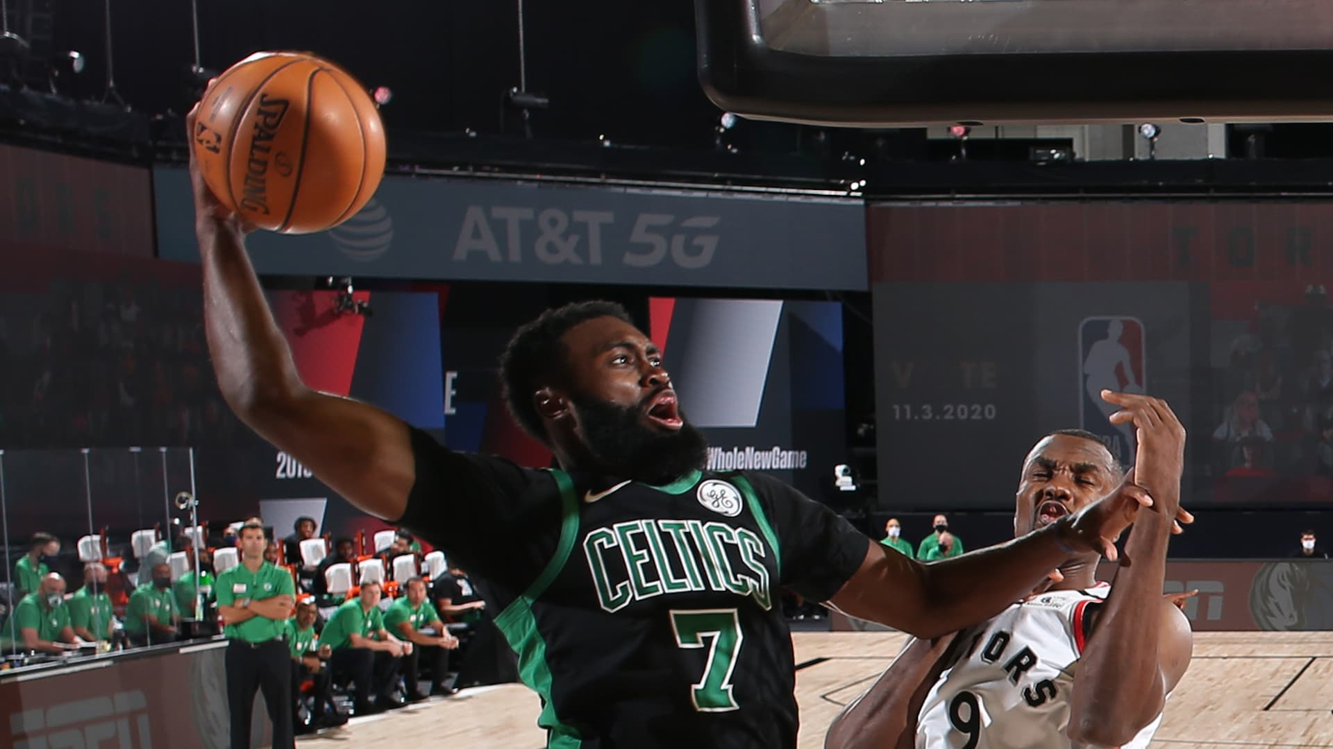 Celtics punish Raptors' poor shooting, lack of corner defense in wire-to-wire Game 1 win