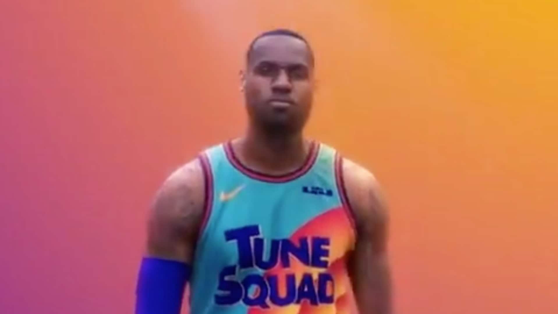 LeBron James drops 'Space Jam' sequel jersey sneak peek
