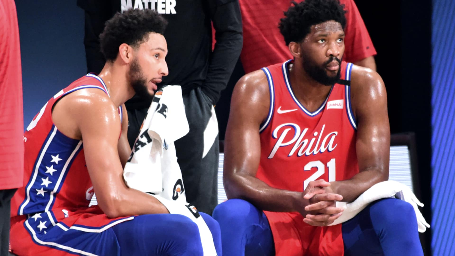 Sixers coach Brett Brown says Ben Simmons, Joel Embiid both healthy for restart