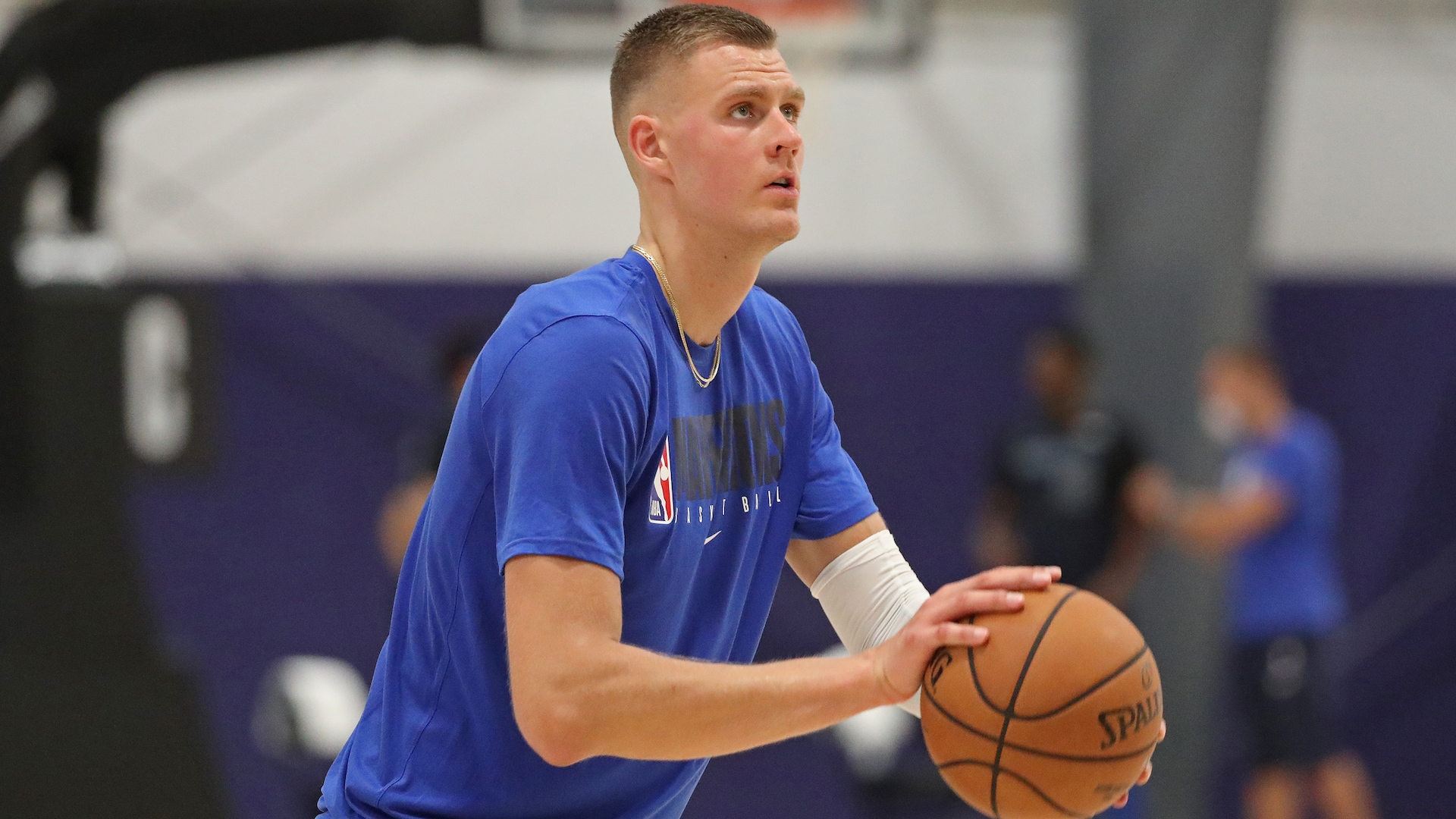 Kristaps Porzingis out of first-round series with torn meniscus in right knee