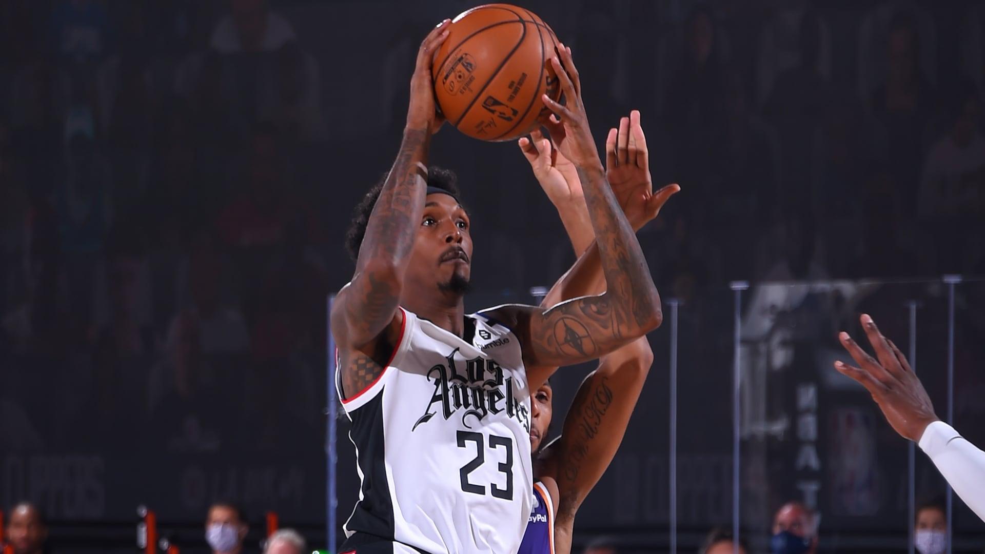 Lou Williams makes restart debut vs. Suns