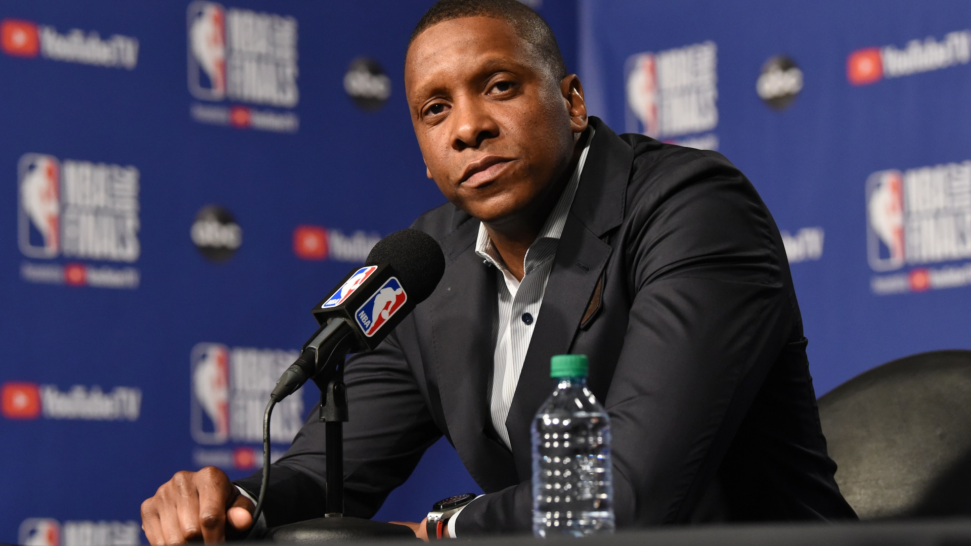New footage shows officer shoved Masai Ujiri first