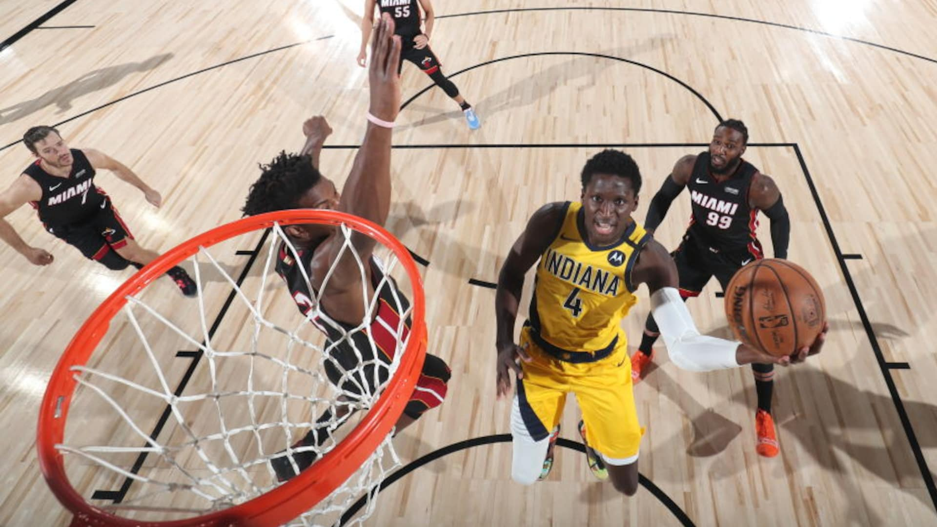 Pacers' Oladipo day-to-day after being poked in eye in Game 1