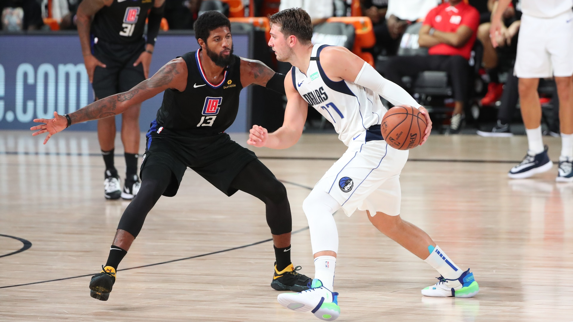 Clippers survive Luka Doncic's historic night, resilient Mavericks in opener