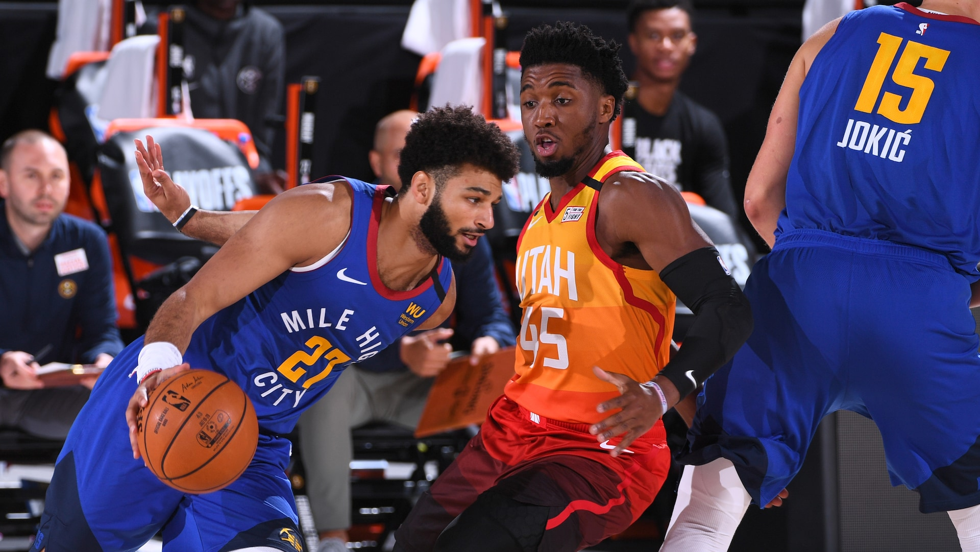 Donovan Mitchell, Jamal Murray drop opposing 50s in duel for record books