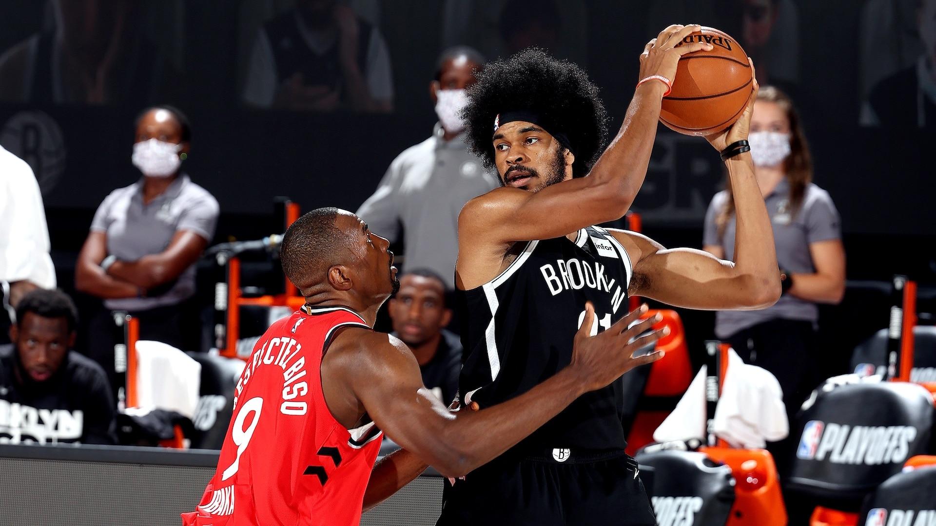 Raptors erase Jarrett Allen, open 3-0 series lead on Nets