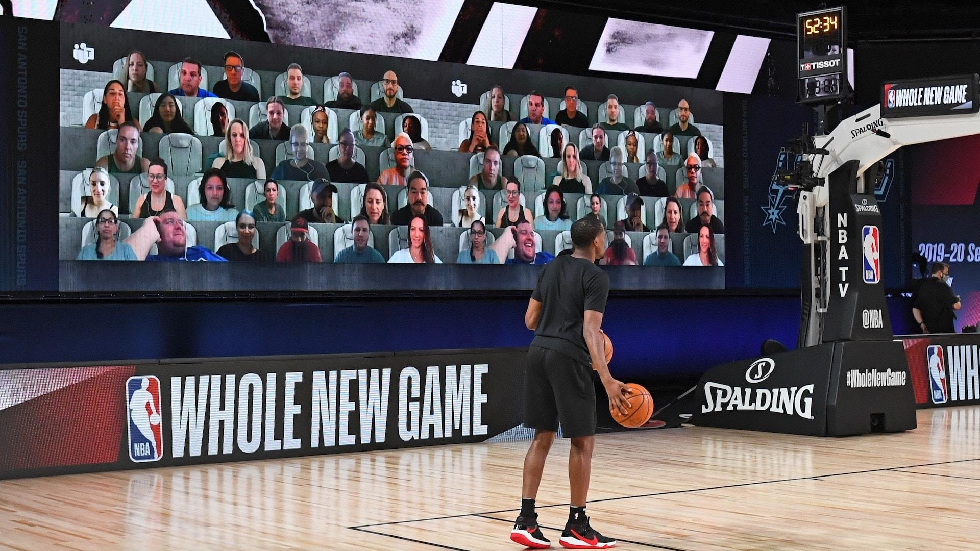 How virtual fans found their seats at NBA season restart