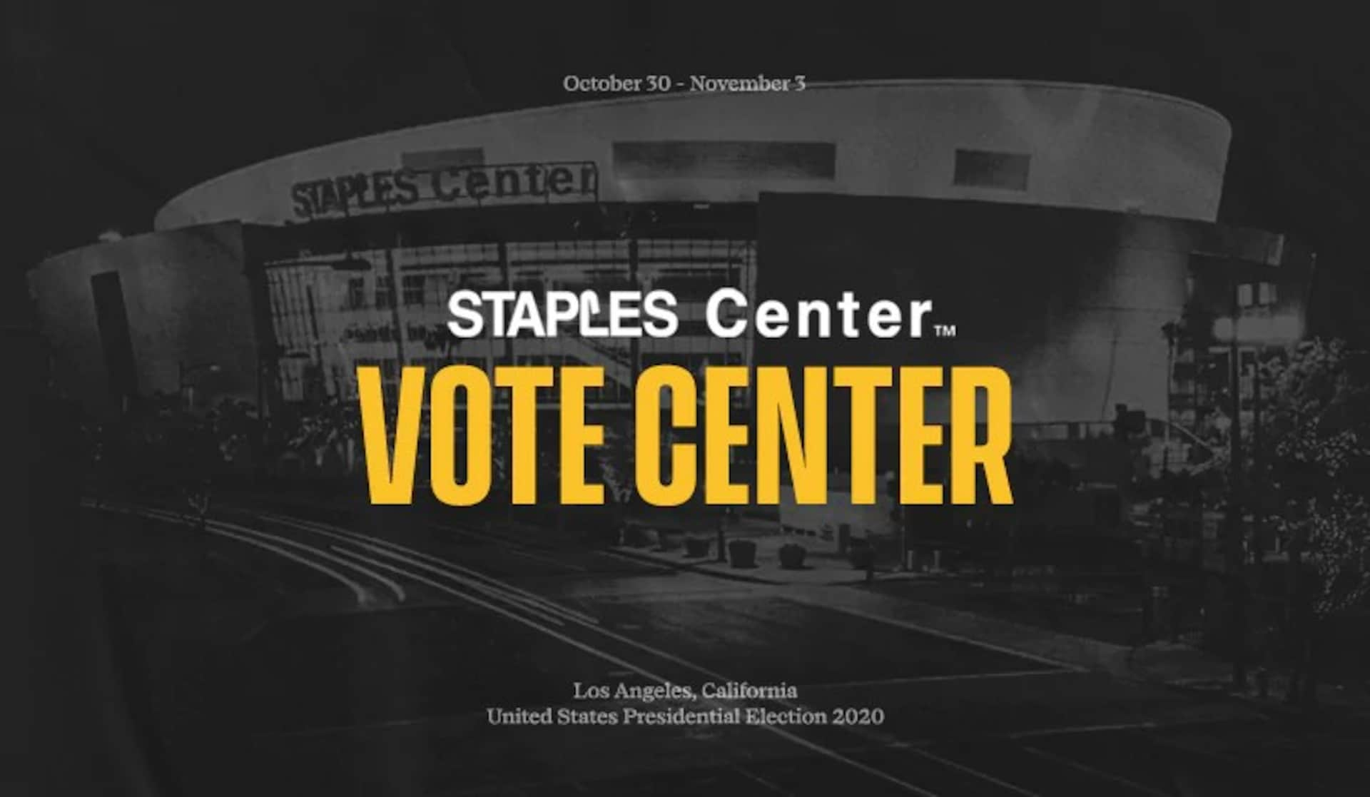 Staples Center to serve as General Election Vote Center