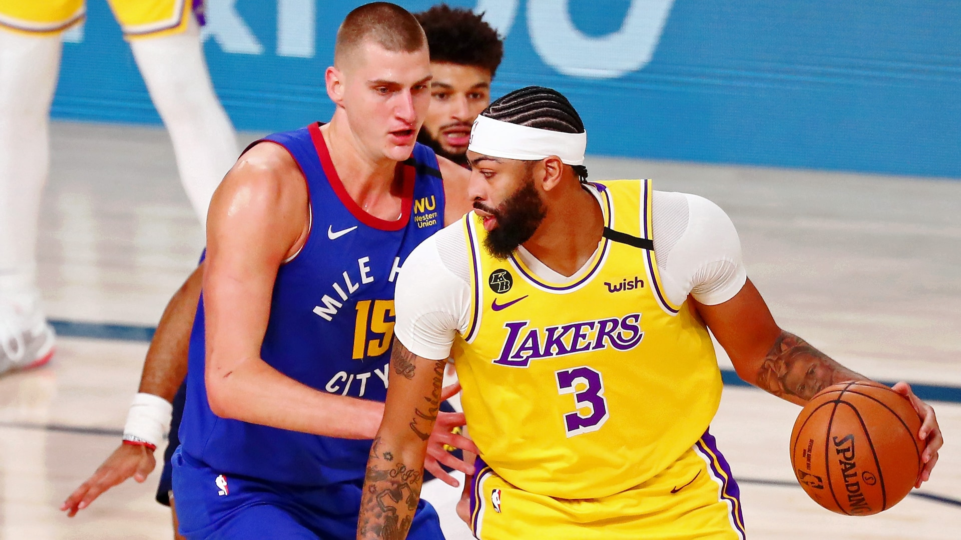 Lakers overpower Nuggets in West finals opener