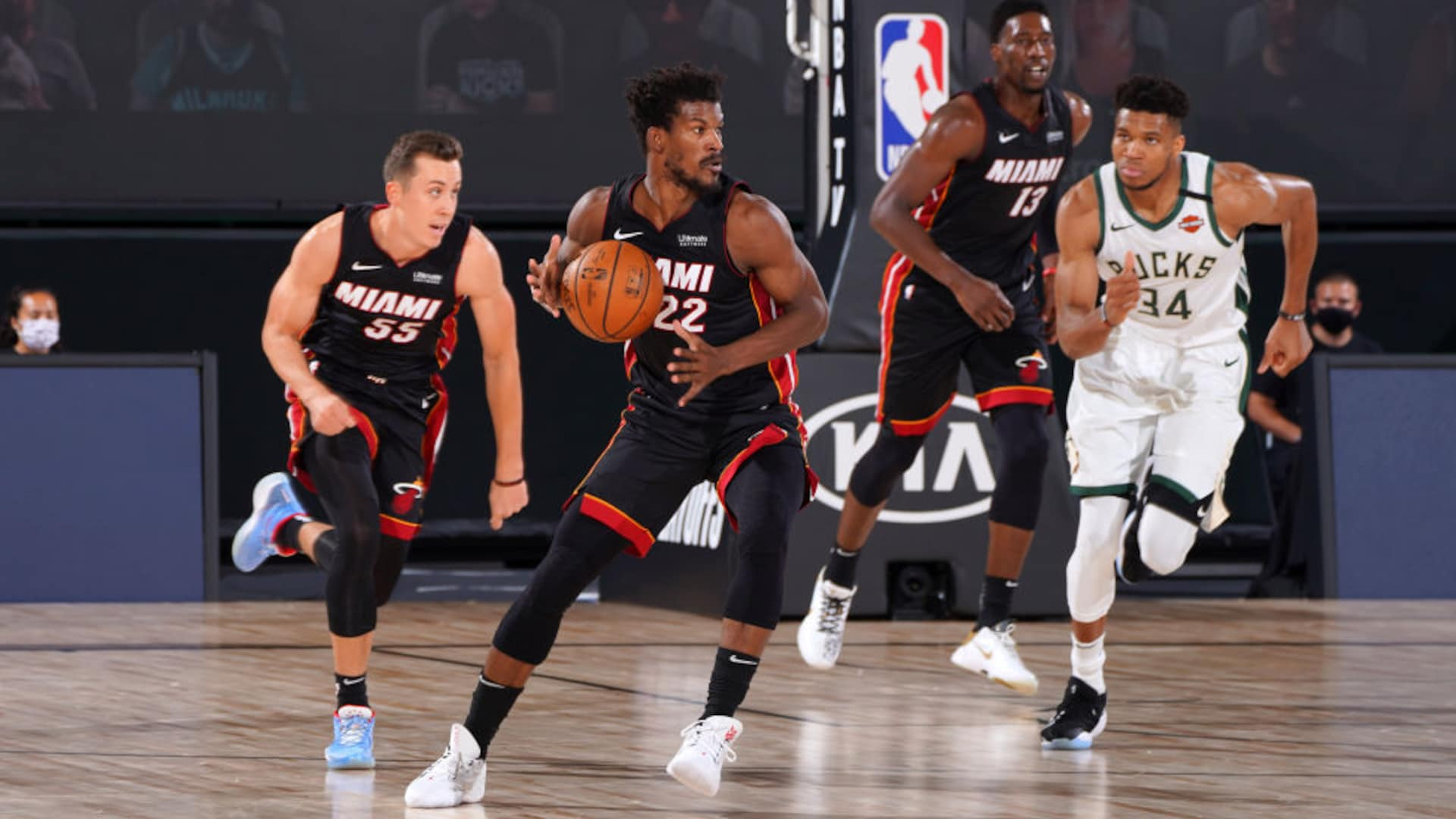Fear the deer? Jimmy Butler, Heat stand up with strong Game 1