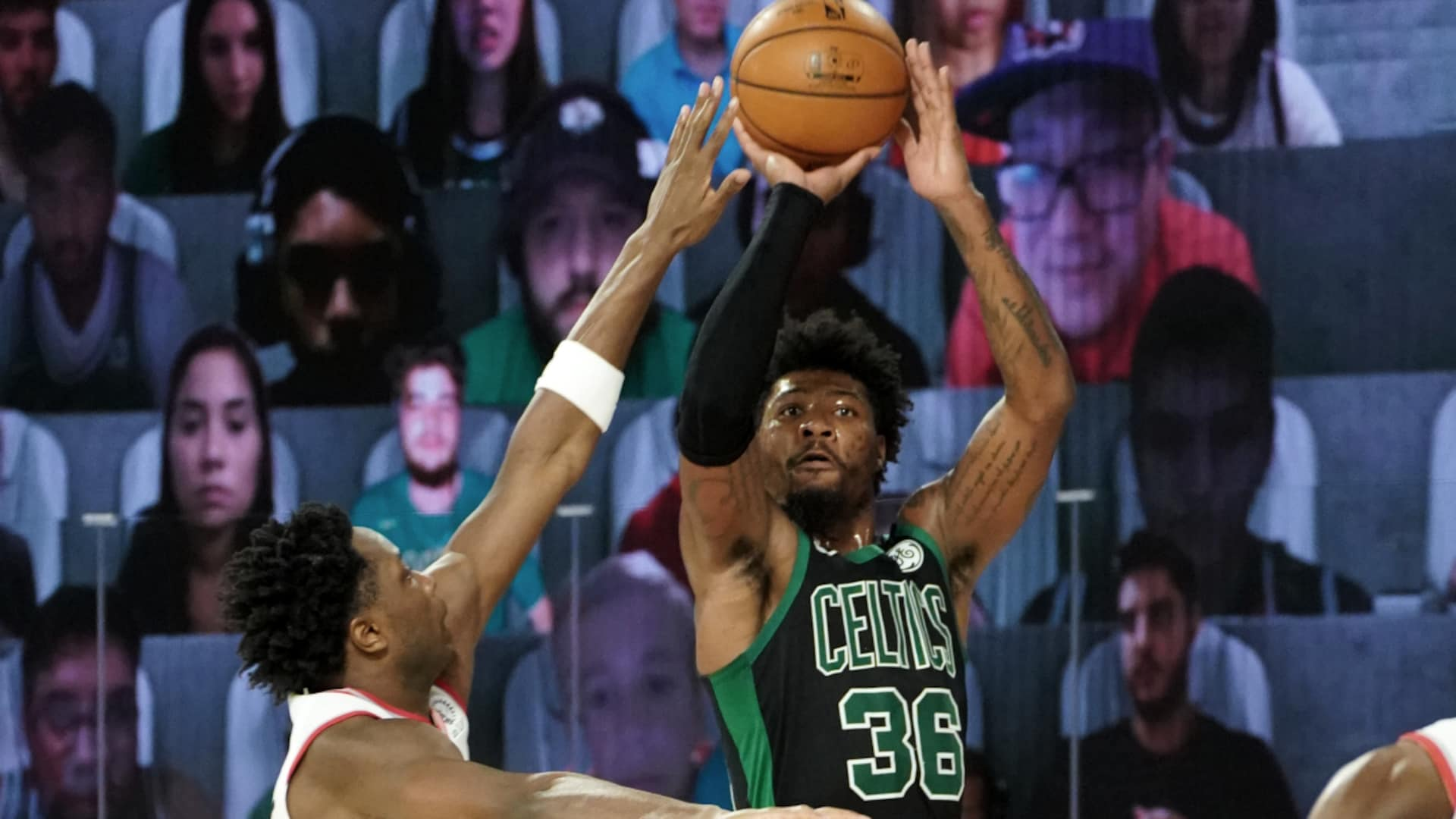 Marcus Smart catches fire, and Celtics rally to take Game 2