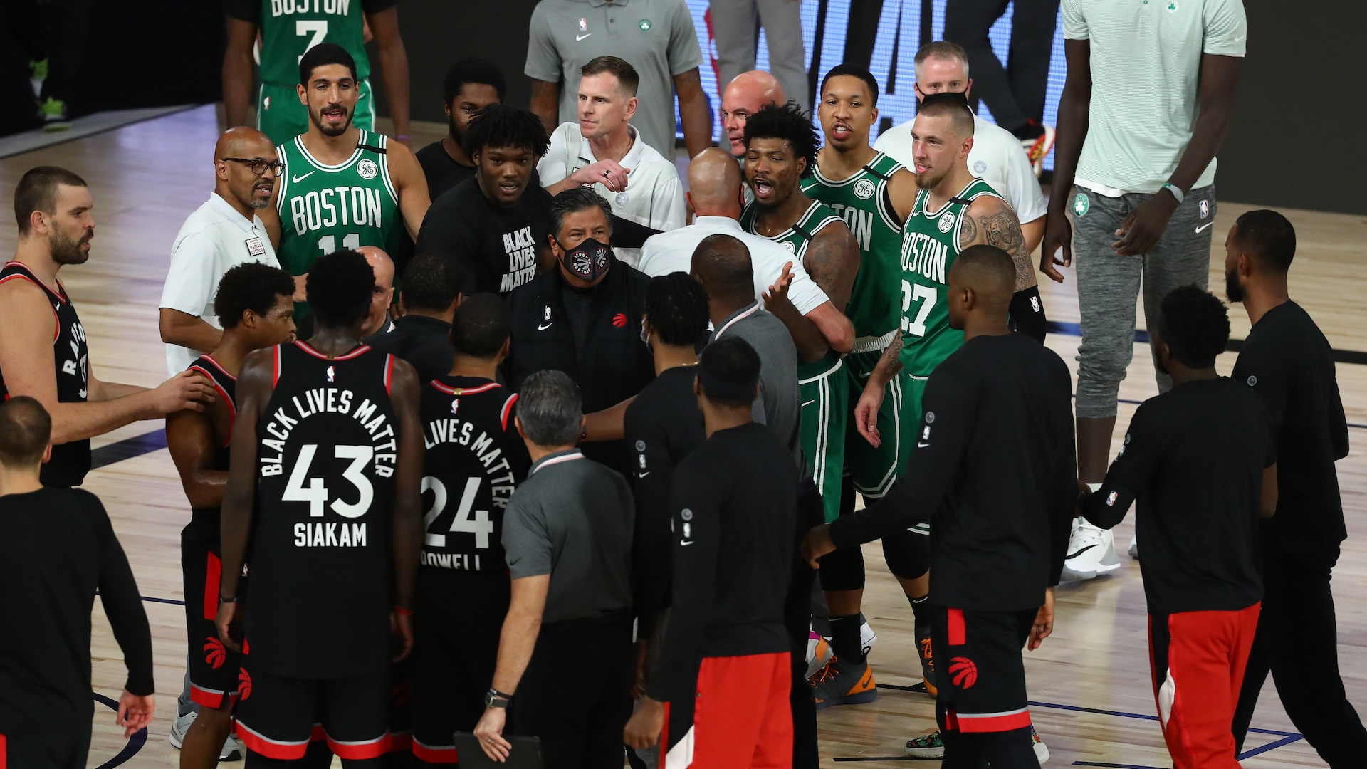 Emotions boil over after Raptors' wild double-OT Game 6 win