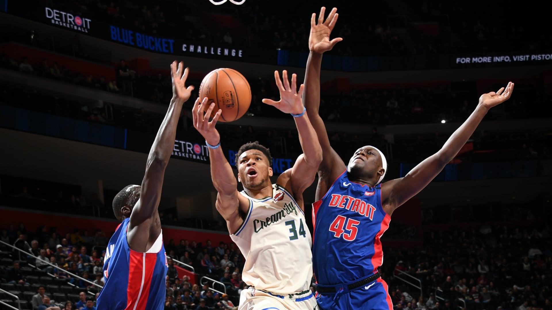 Bucks @ Pistons