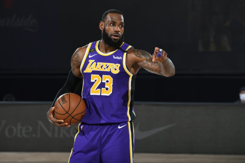 LeBron James, Lakers lead NBA's jersey and merchandise list during ...