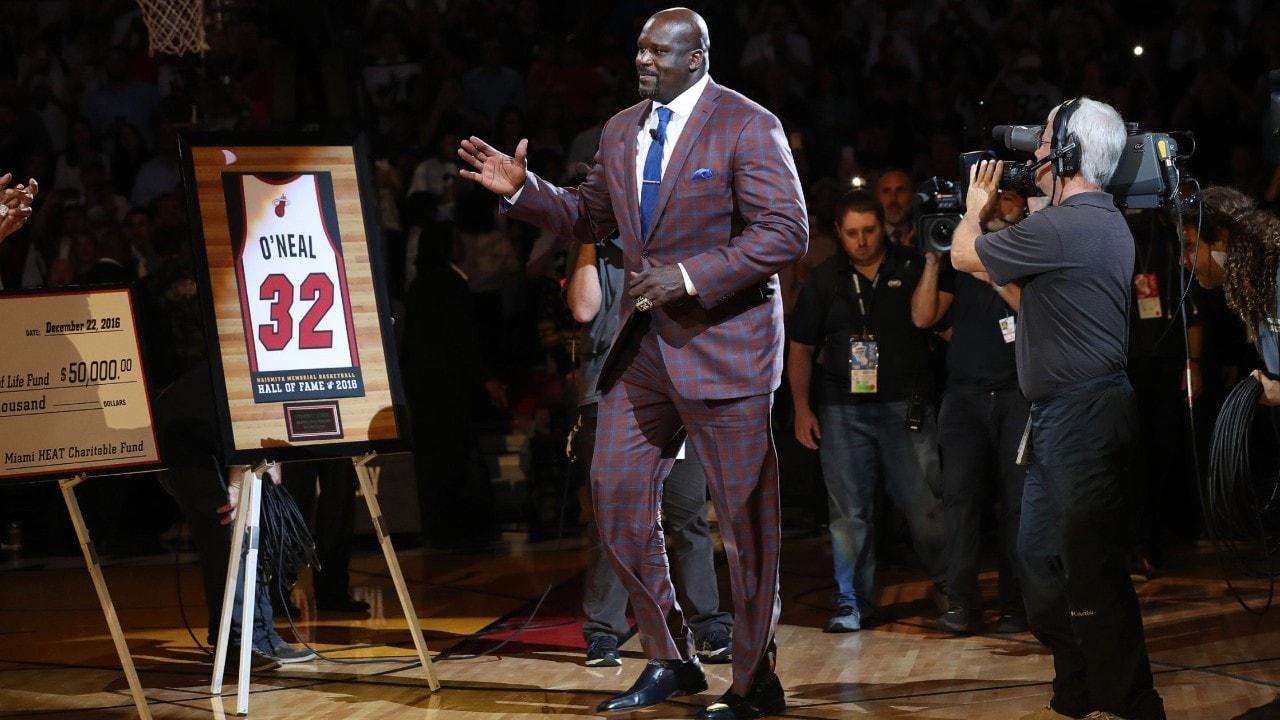 To the rafters: Heat retire Shaq's No. 32 jersey | NBA.com