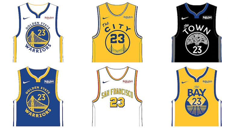 Warriors unveil six new jersey designs for 2019-20 season   NBA.com