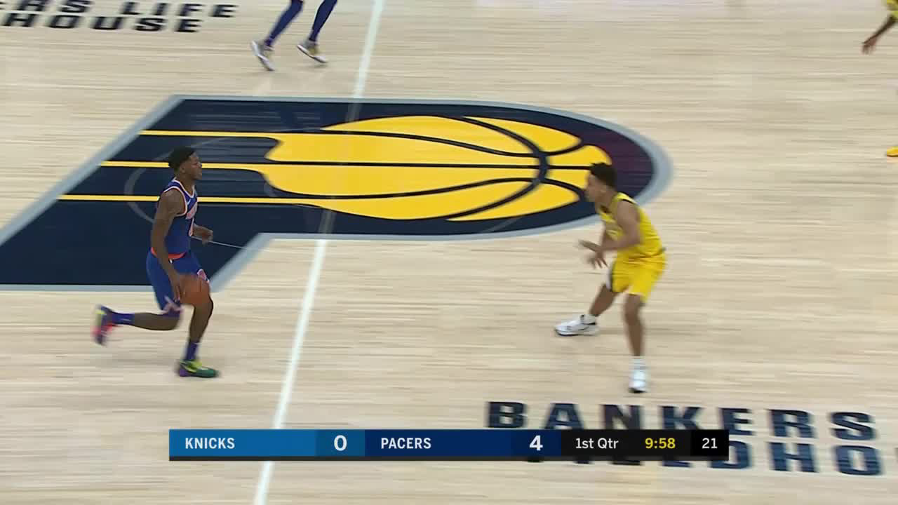 Myles Turner with 8 Blocks vs. New York Knicks