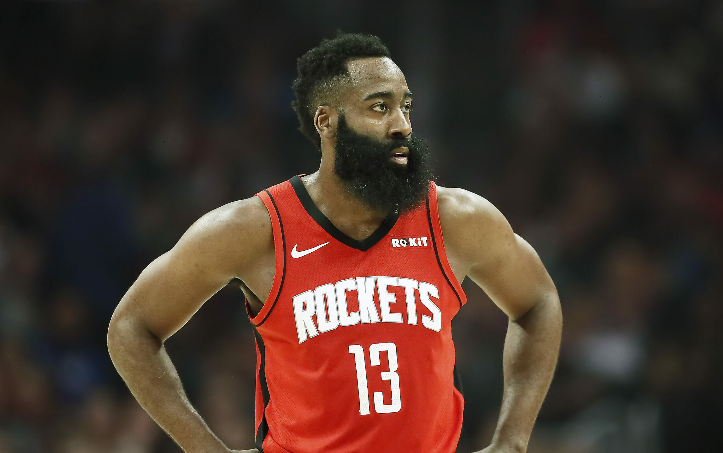 Rockets star James Harden arrives in Houston after delay