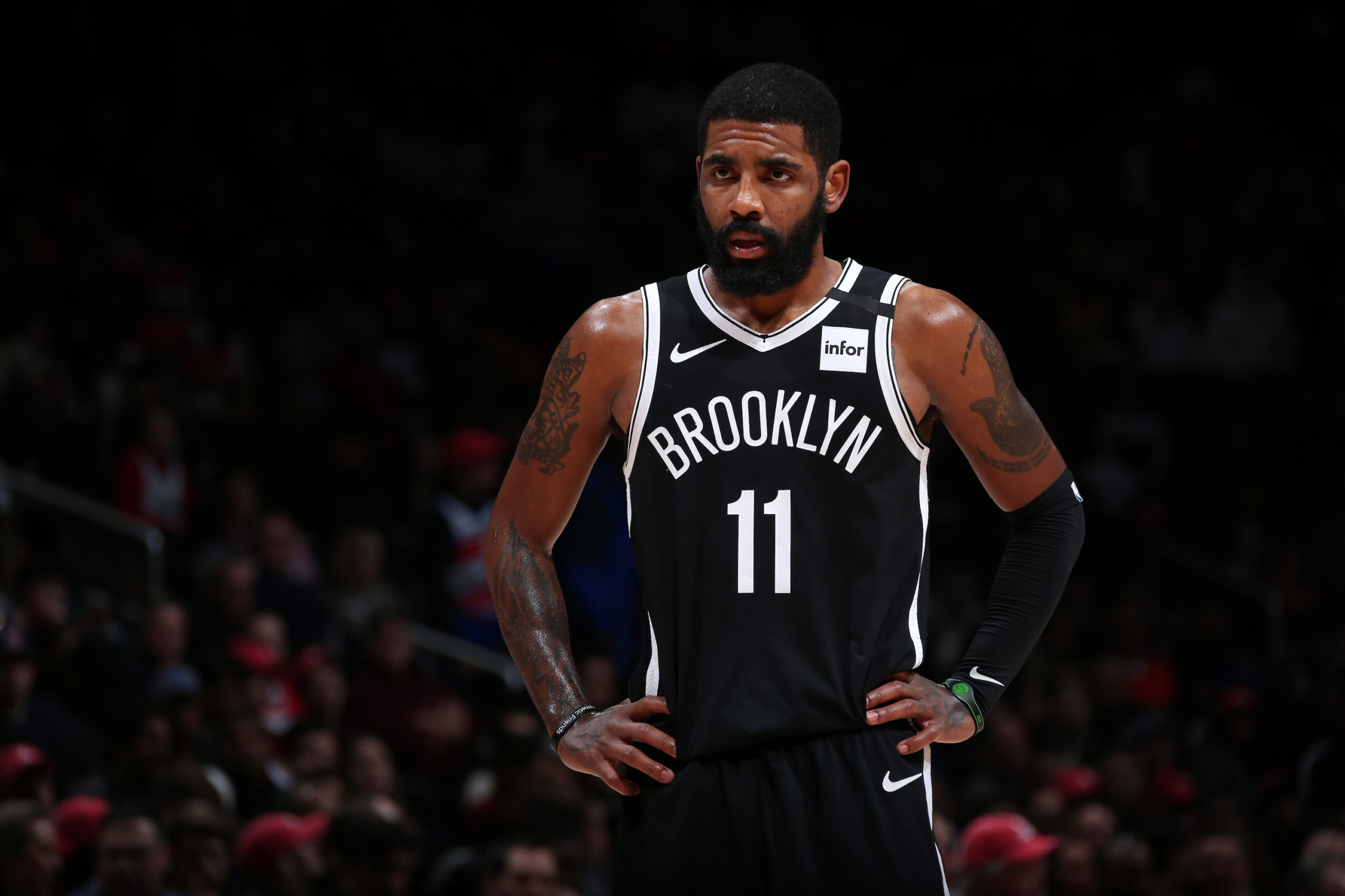 Kyrie Irving, Brooklyn Nets fined for violating league media access rules