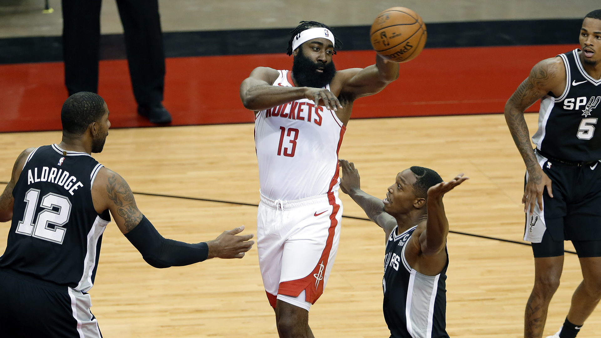 Rockets star James Harden: 'I'm focused on being here'