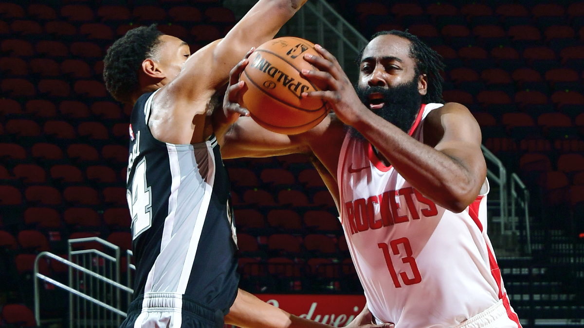 James Harden makes preseason debut with Rockets