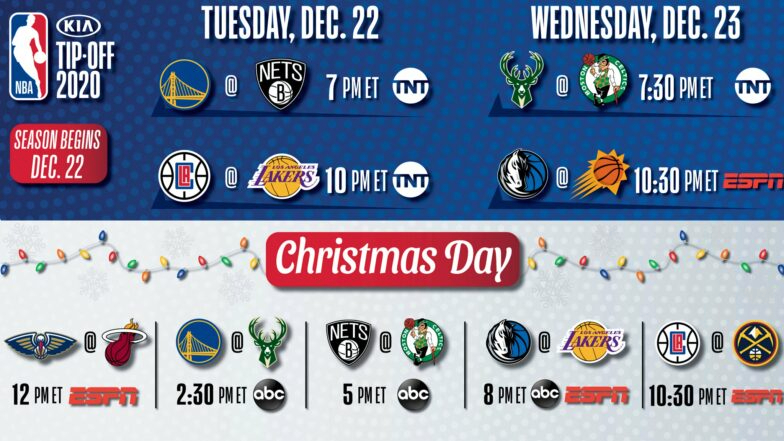 NBA releases National TV schedule for opening night, Christmas