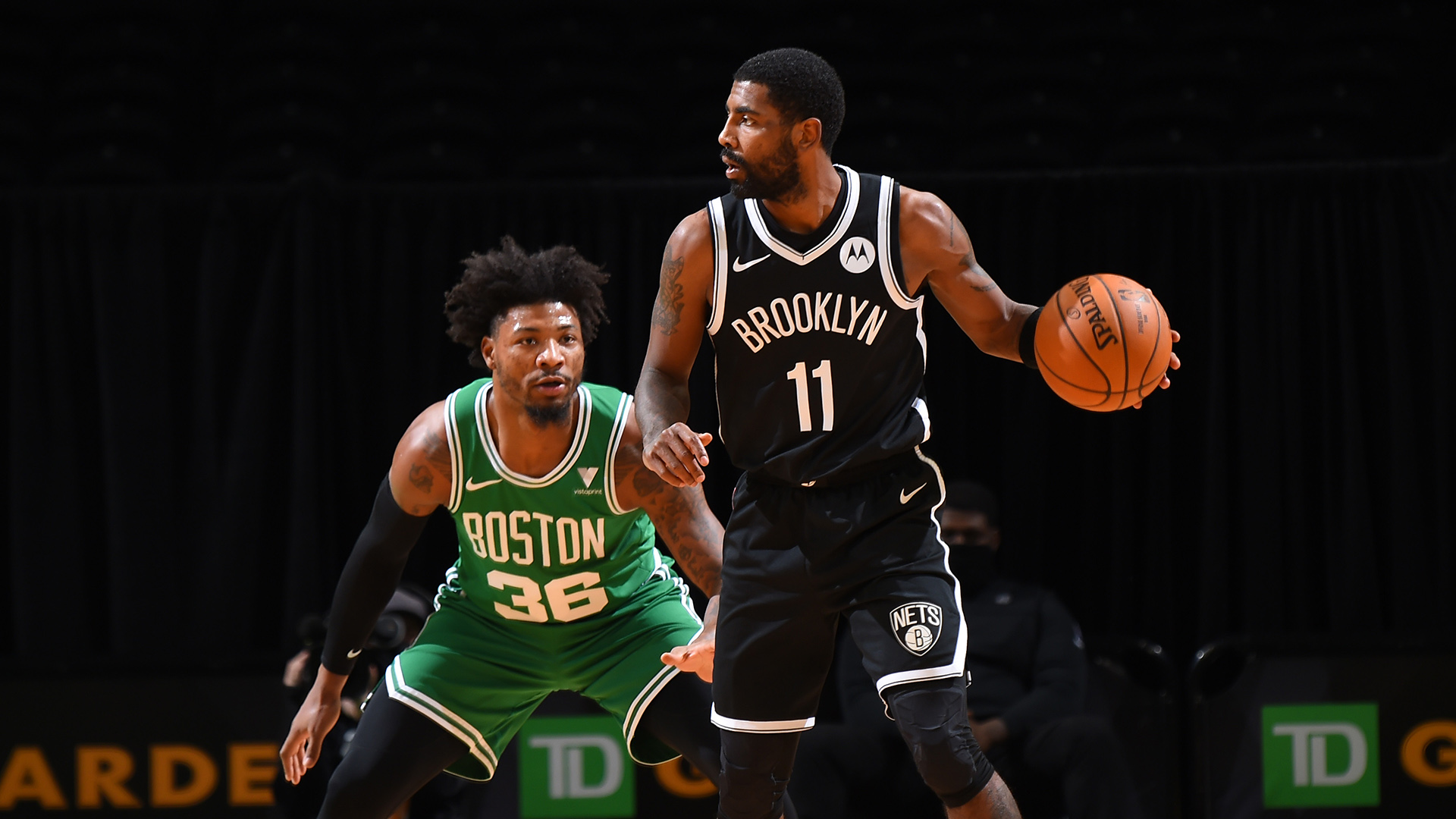 Kyrie Irving cleanses court in return to Boston