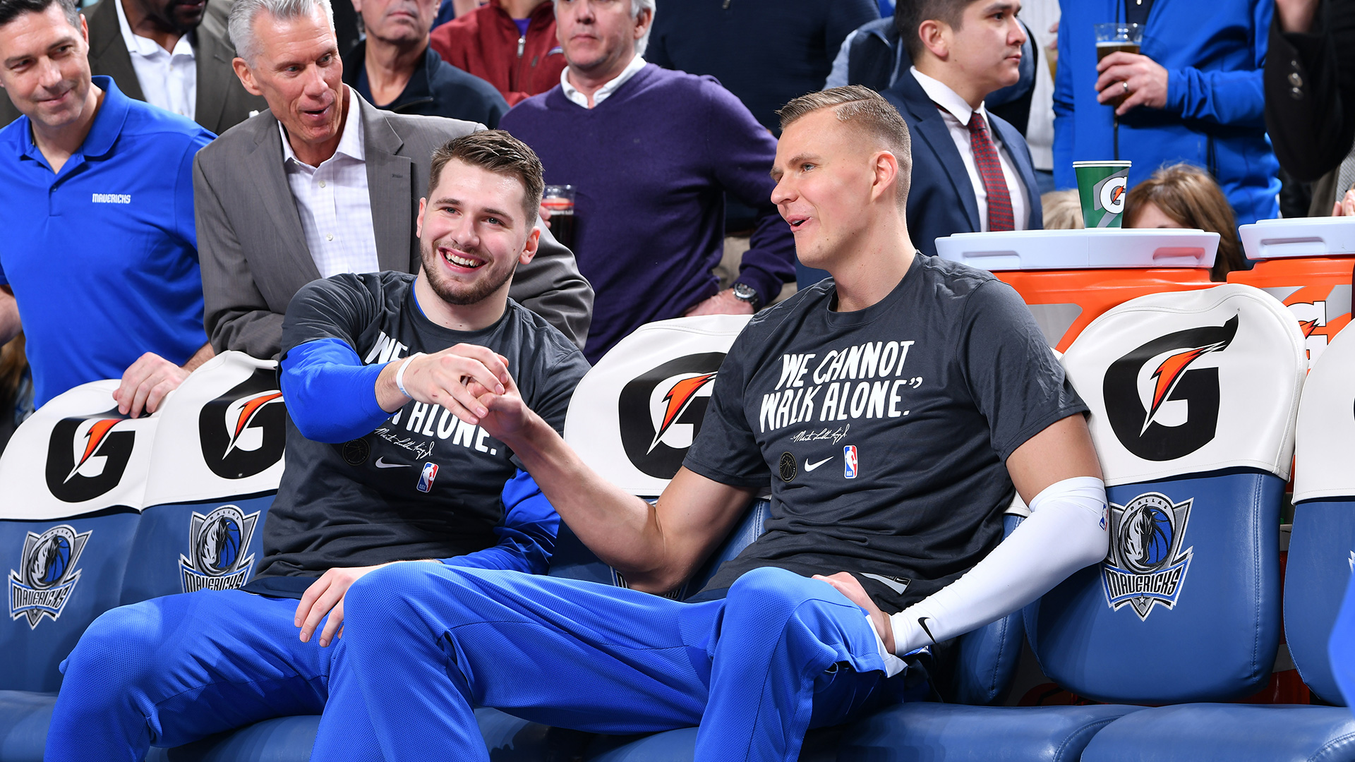 Kristaps Porzingis upgraded to questionable for 1st time this season