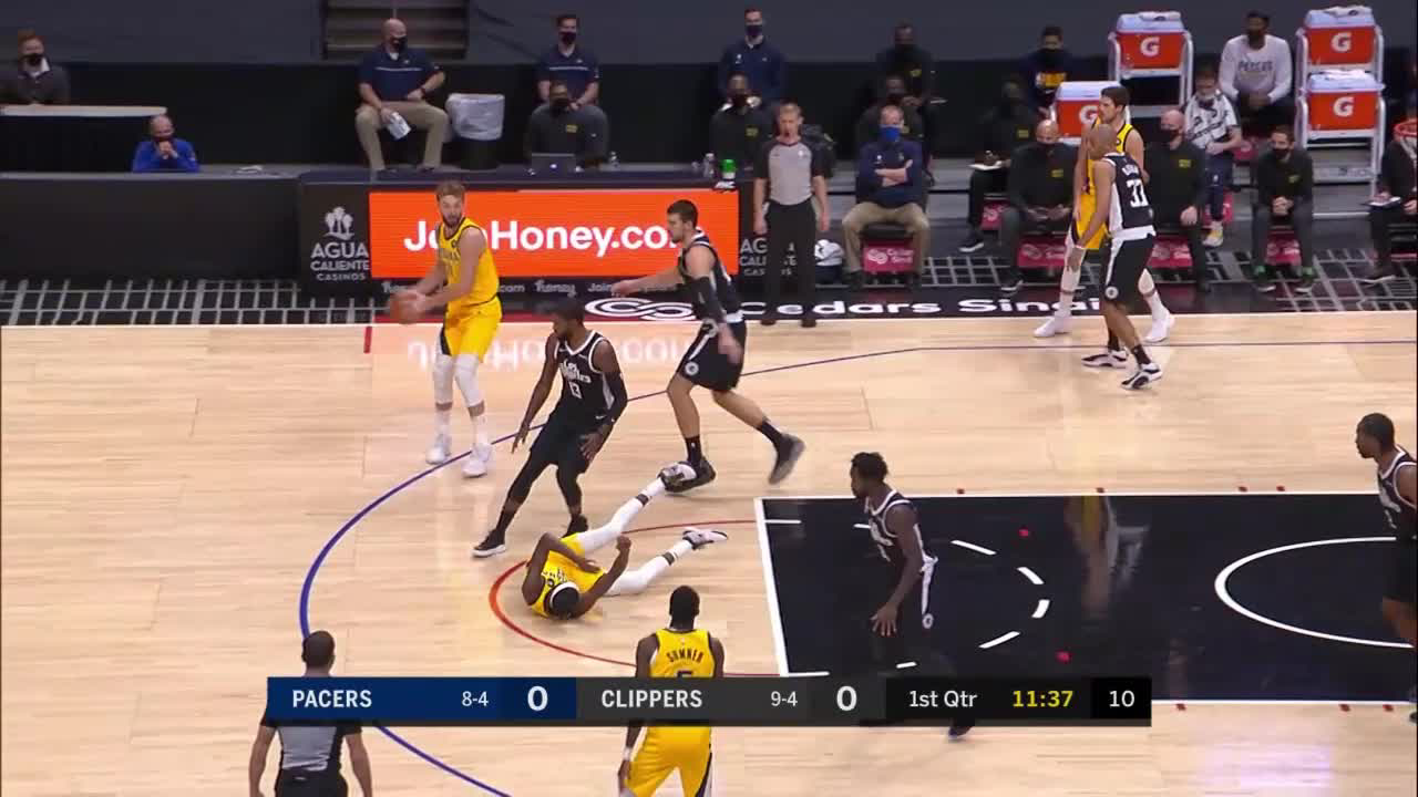 Domantas Sabonis Posts 19 points & 14 rebounds vs. LA Clippers