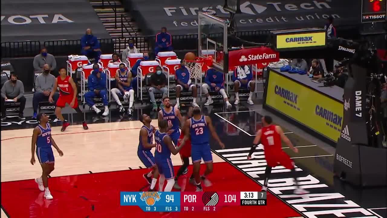 Damian Lillard (39 points) Highlights vs. New York Knicks